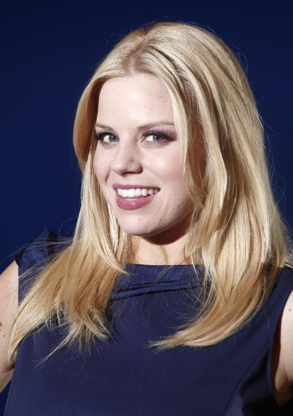 File- In this Feb. 27, 2012 file photo, actress Megan Hilty poses for a portrait in New York. Hilty wrapped her second, and possibly final, season of ...
