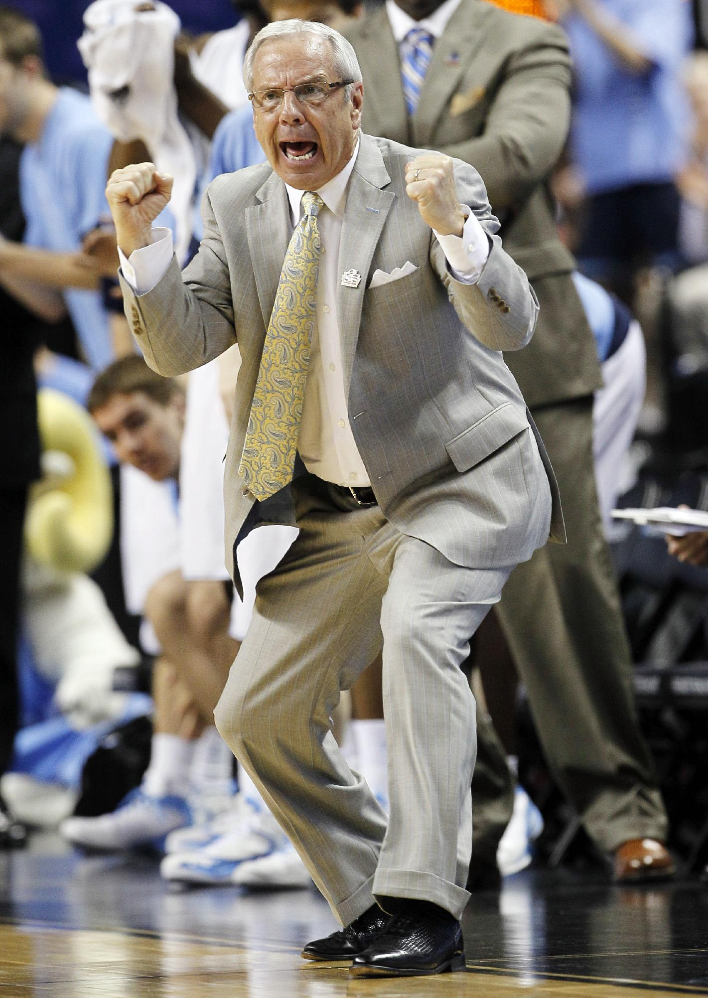 Roy Williams has won two national titles as North Carolina's coach. (AP)