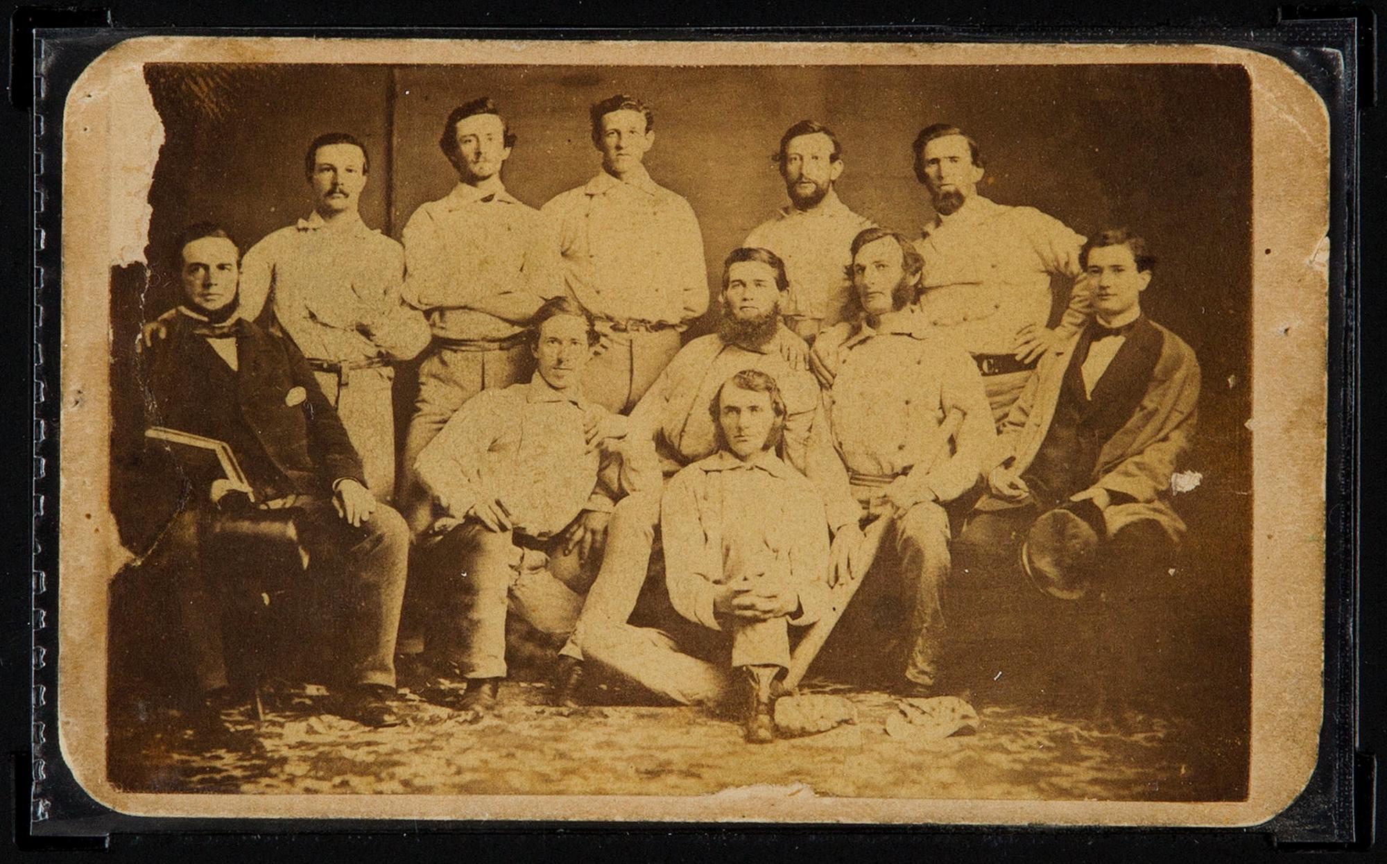 Pre-Civil War baseball team card going on the auction block