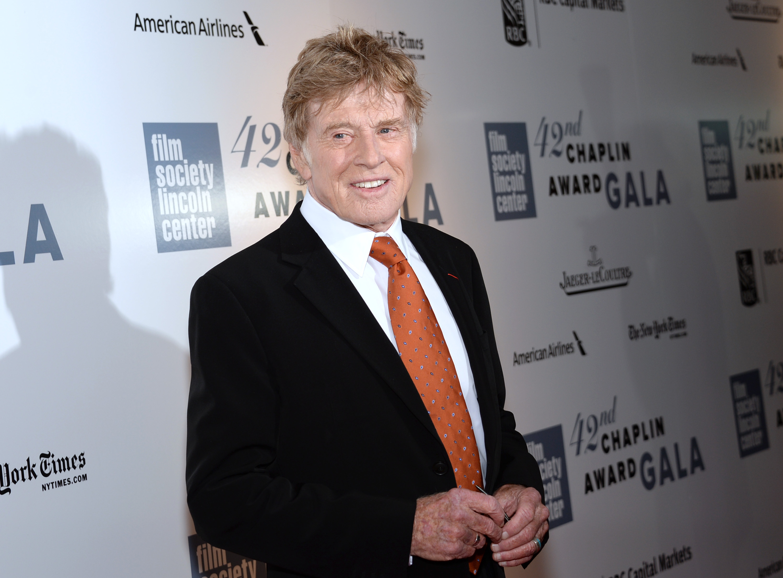 Rare Robert Redford family reunion at Chaplin Awards