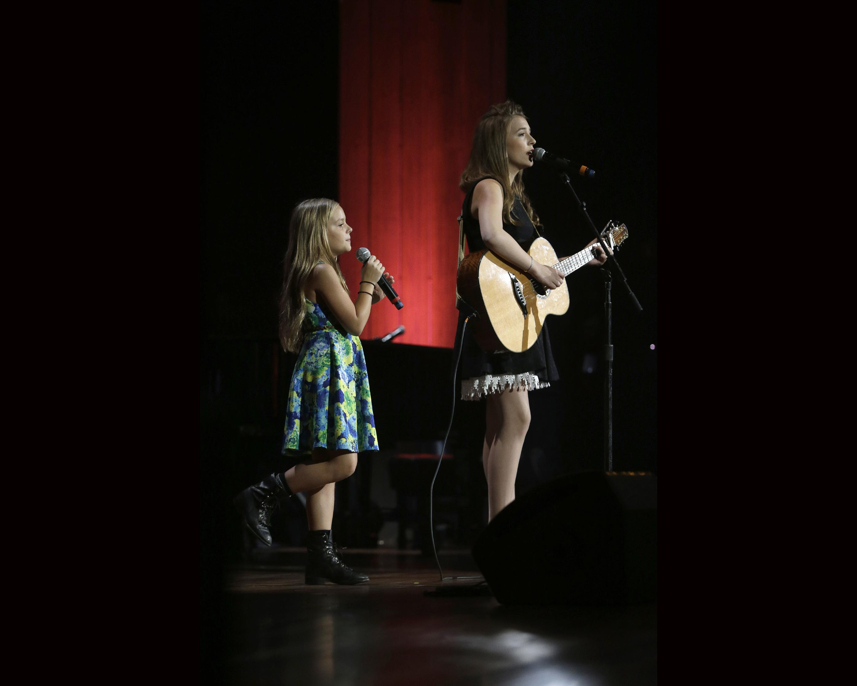 Lennon & Maisy working on picture book