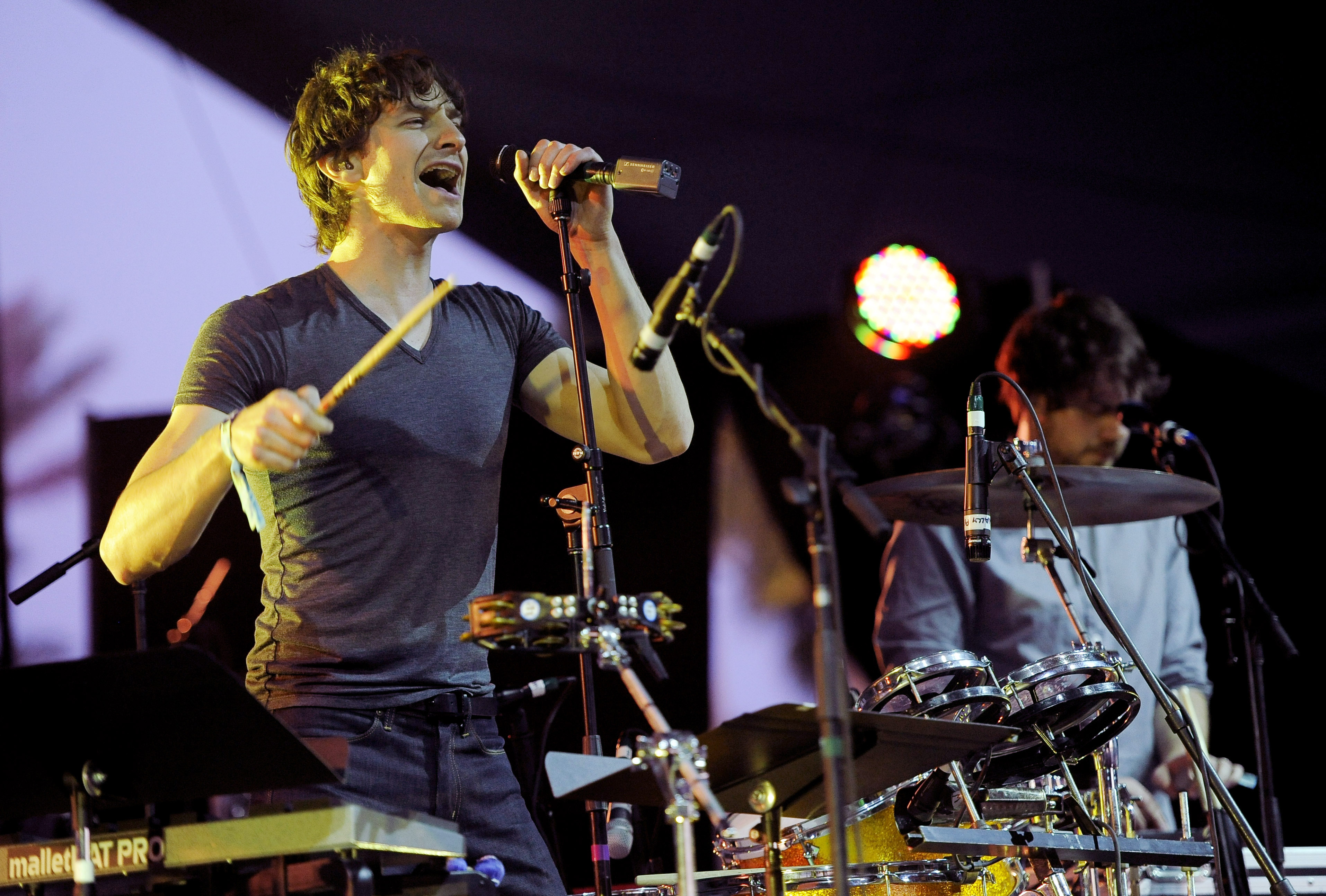 FILE - In this April 15, 2012 file photo, Australian artist Gotye performs during the first weekend of the 2012 Coachella Valley Music and Arts Festival in Indio, Calif. Botye's