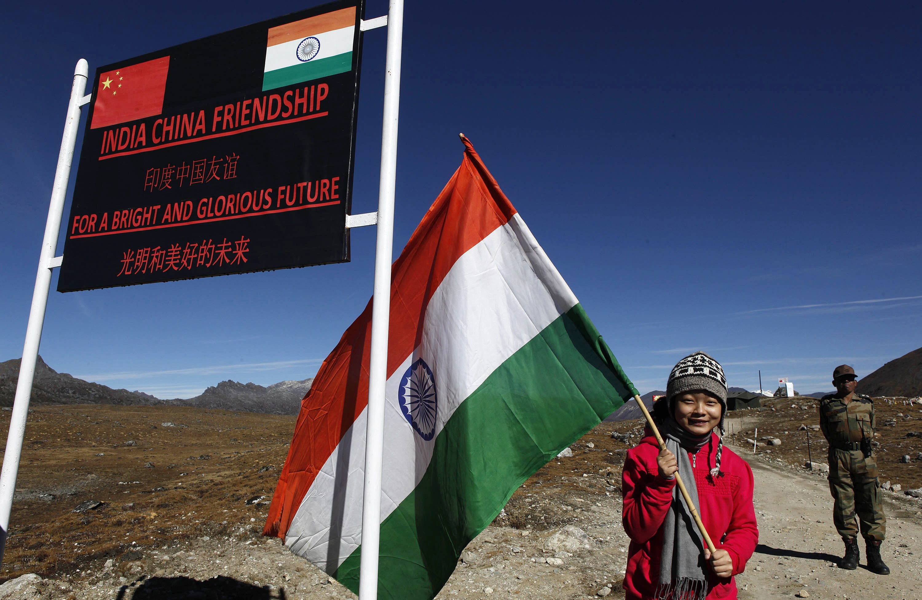 What dispute? India and China ignore land squabble
