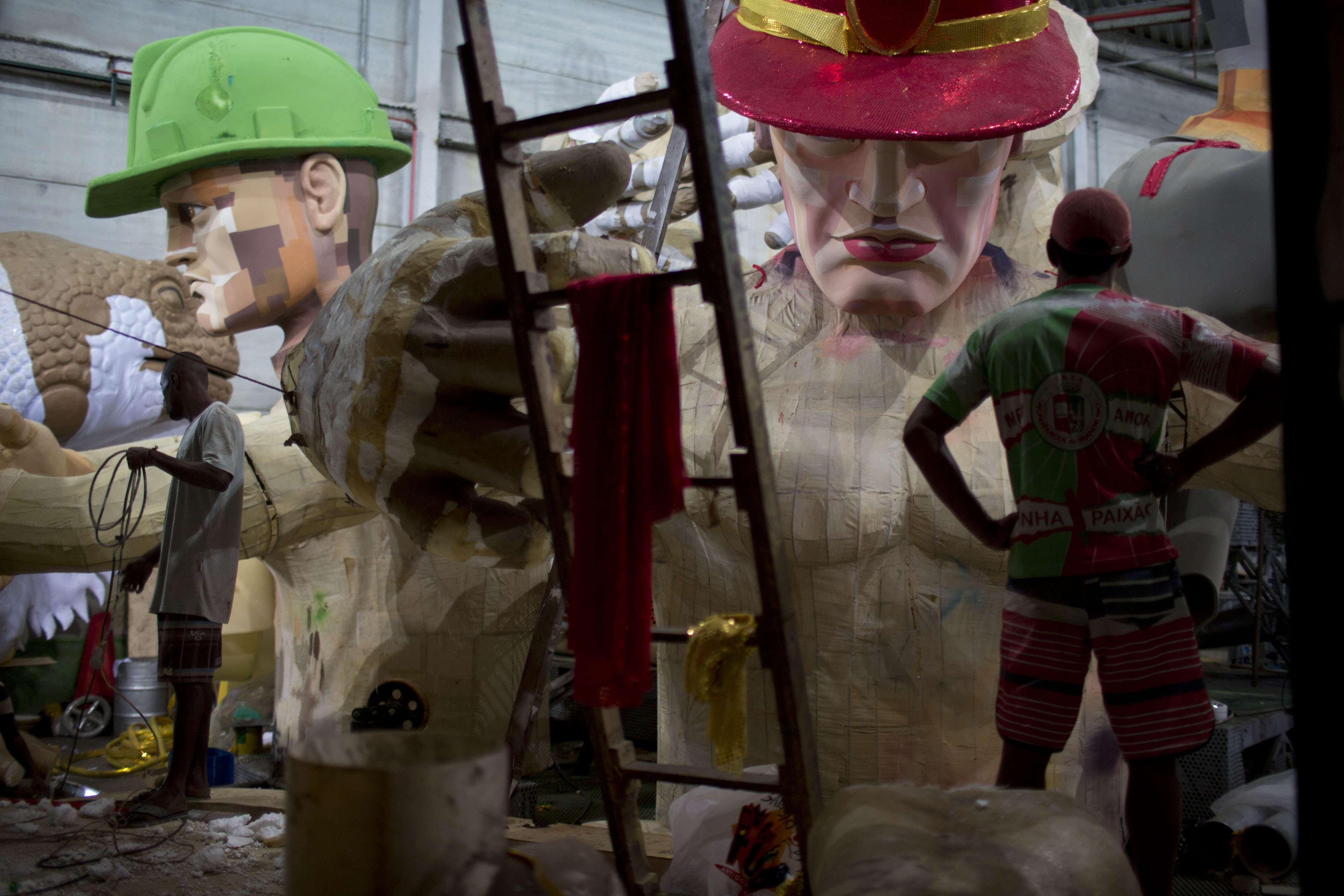hundreds toil for months for rio's carnival parade