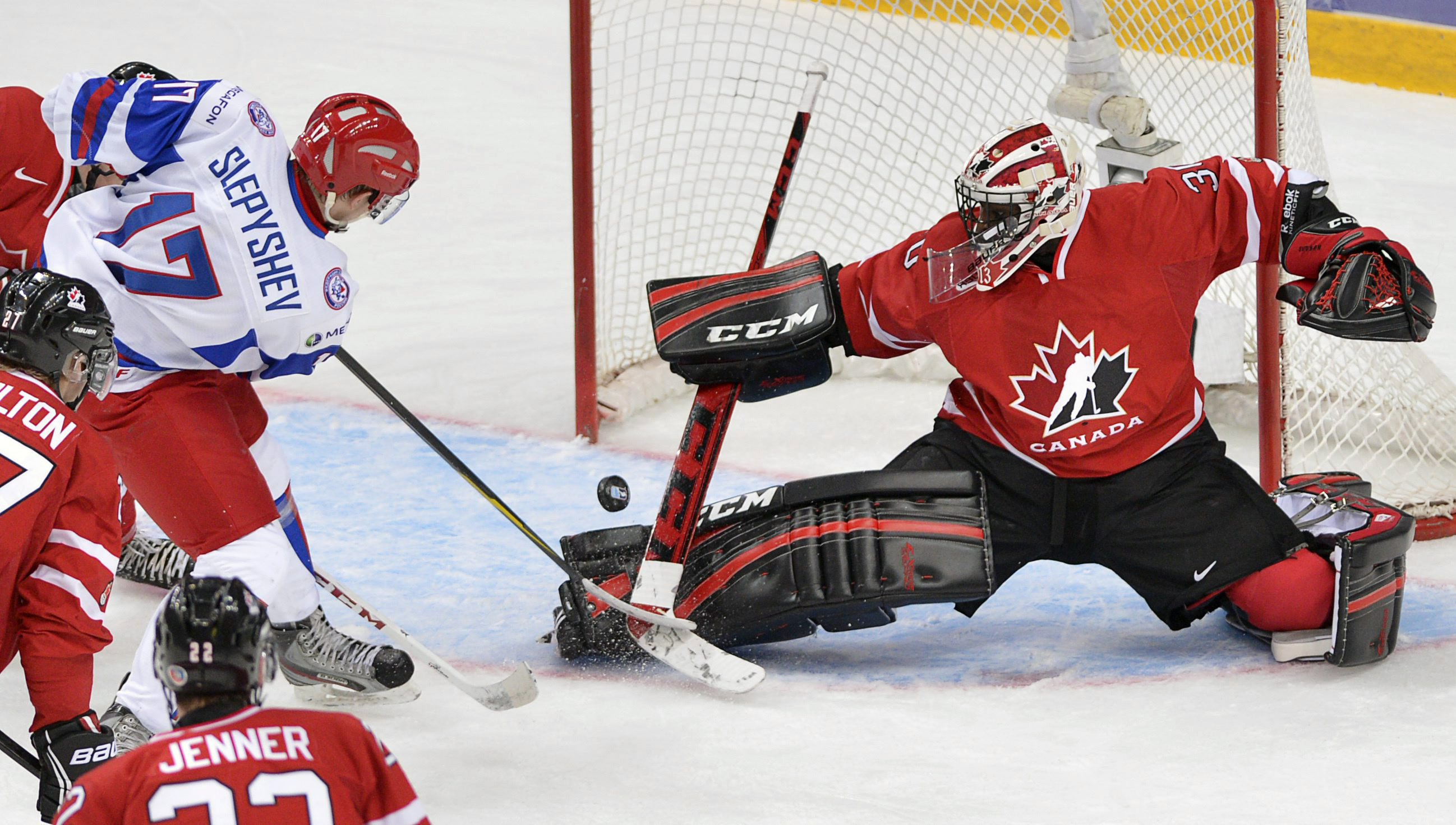 Malcolm Subban came on relief of Jordan Binnington in the bronze-medal game. (AP)
