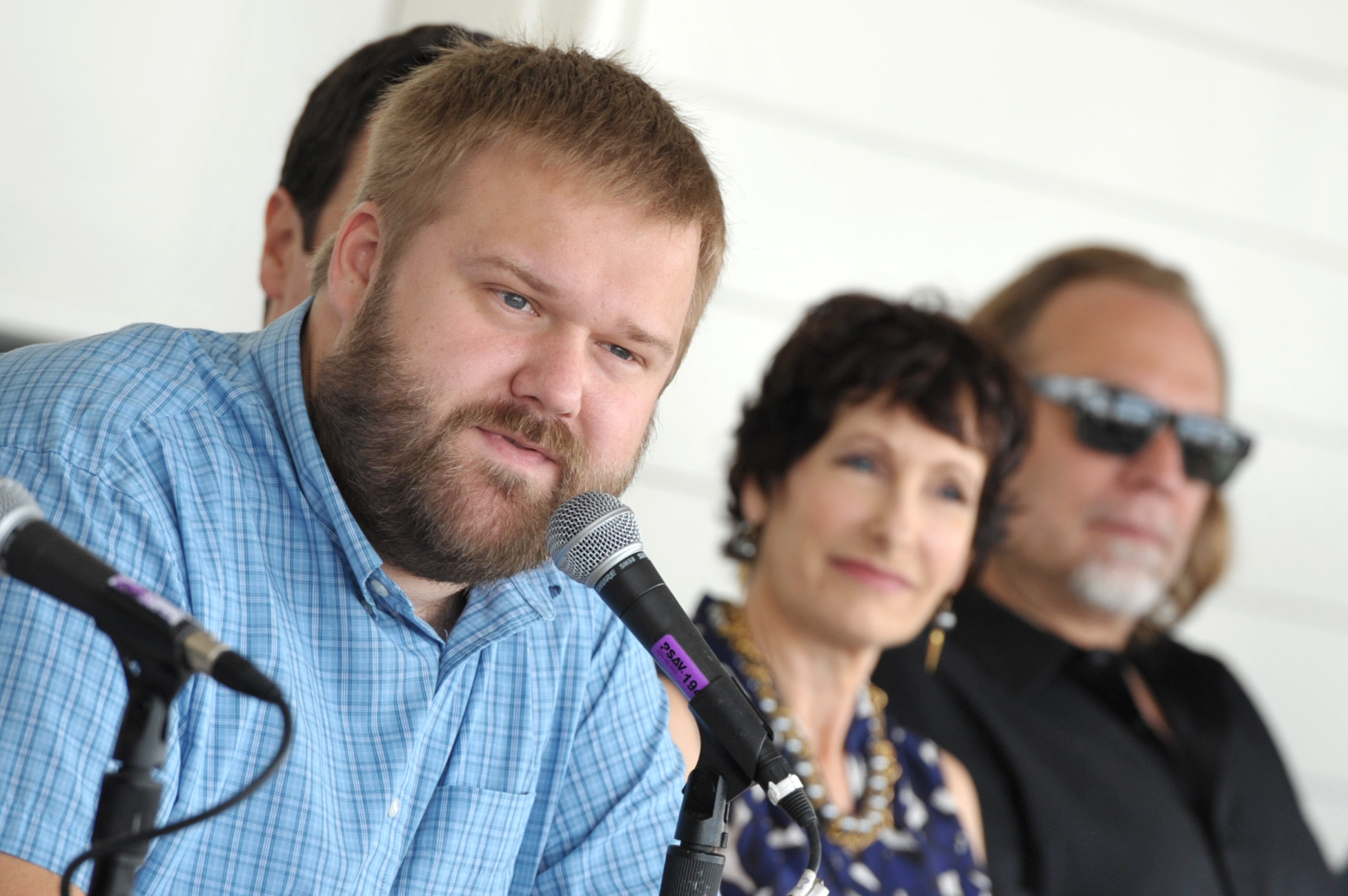 Robert Kirkman, far left (Photo by John Shearer/Invision for AMC/AP Images)