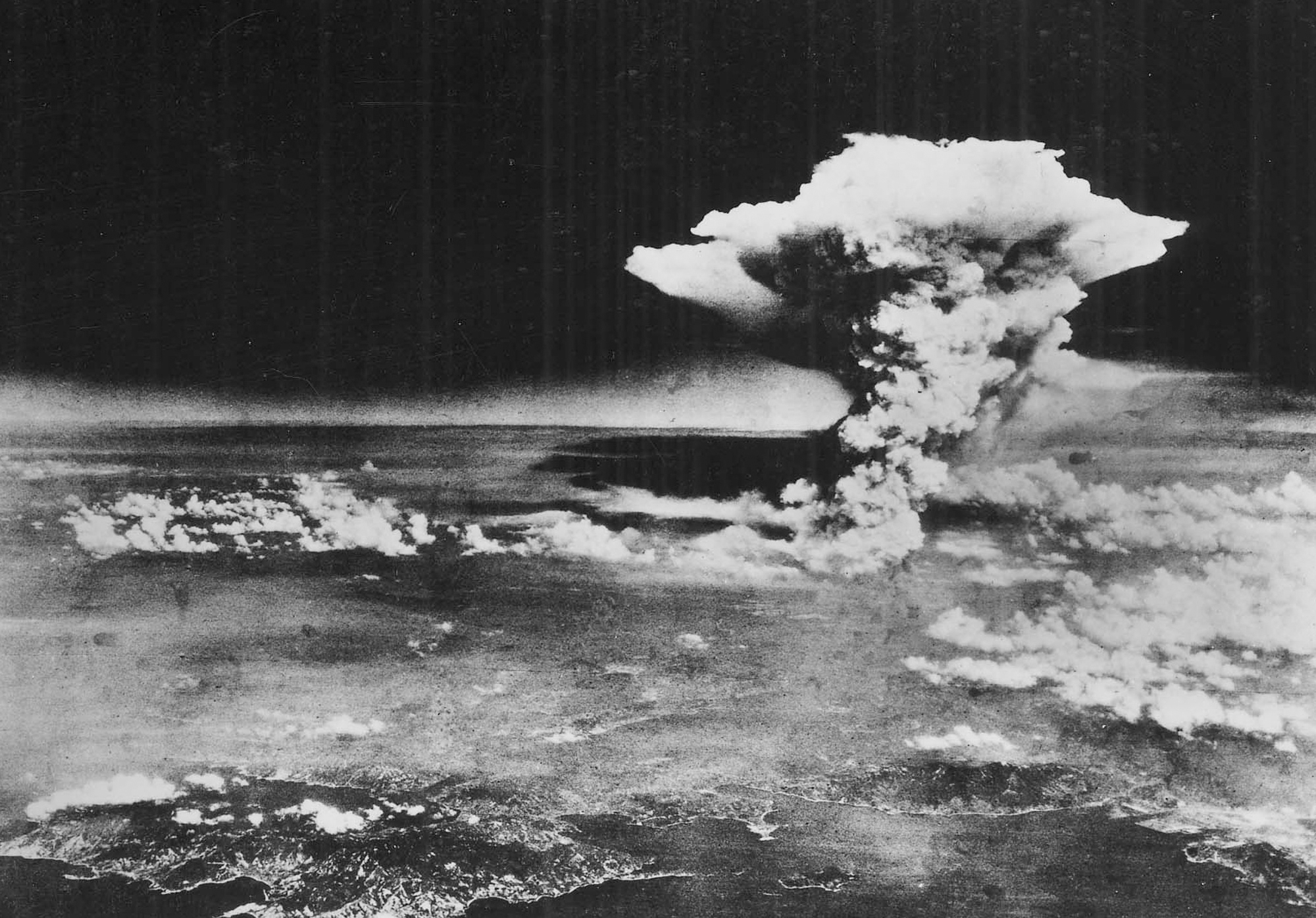 FILE - In this Aug. 6, 1945 file photo released by the U.S. Army, a mushroom cloud billows about one hour after an atomic bomb was detonated above Hiroshima, western Japan. Hiroshima will mark the 67th anniversary of the atomic bombing on Aug. 6, 2012. Clifton Truman Daniel, a grandson of former U.S. President Harry Truman, who ordered the atomic bombings of Japan during World War II, is in Hiroshima to attend a memorial service for the victims. (AP Photo/U.S. Army via Hiroshima Peace Memorial Museum, HO, File) NO SALES, CREDIT MANDATORY