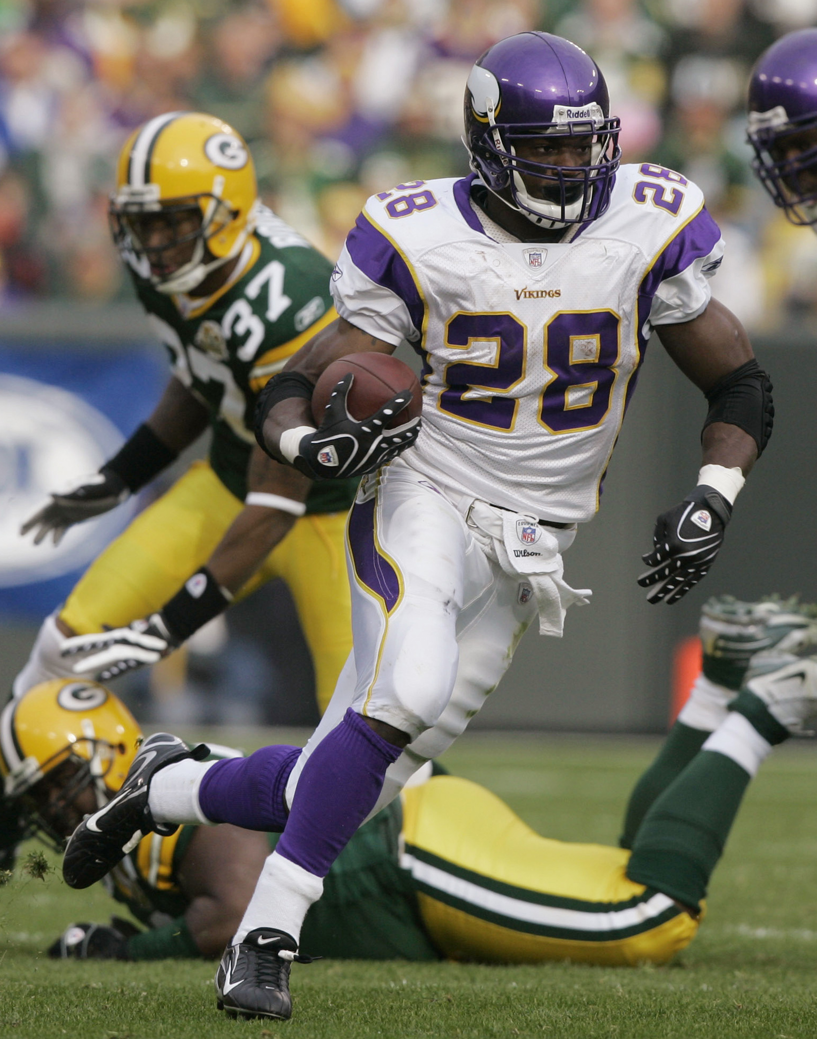 Violent runners like Adrian Peterson might have to change their approaches moving forward. (AP)