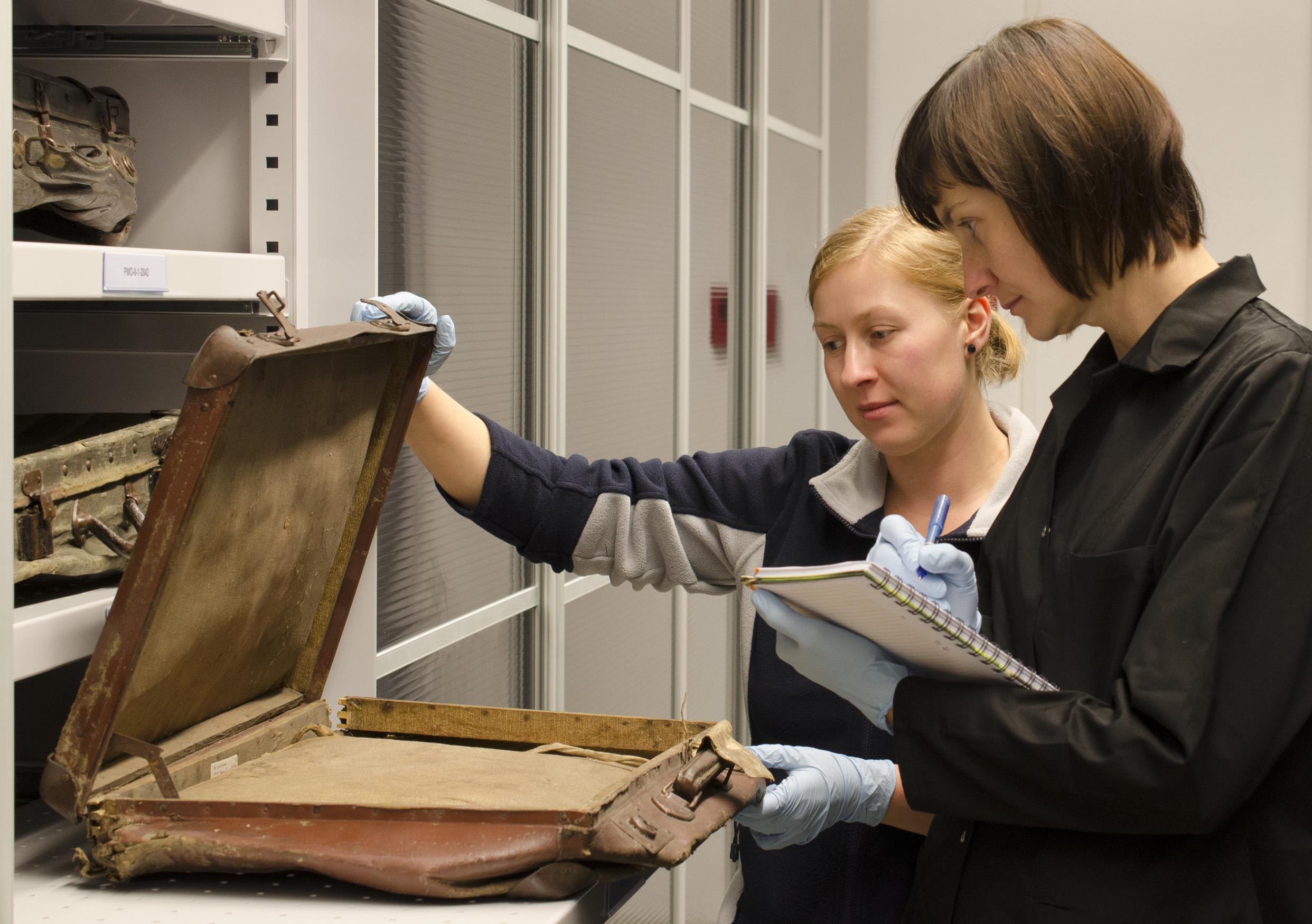 Auschwitz victim suitcases get high-tech storage
