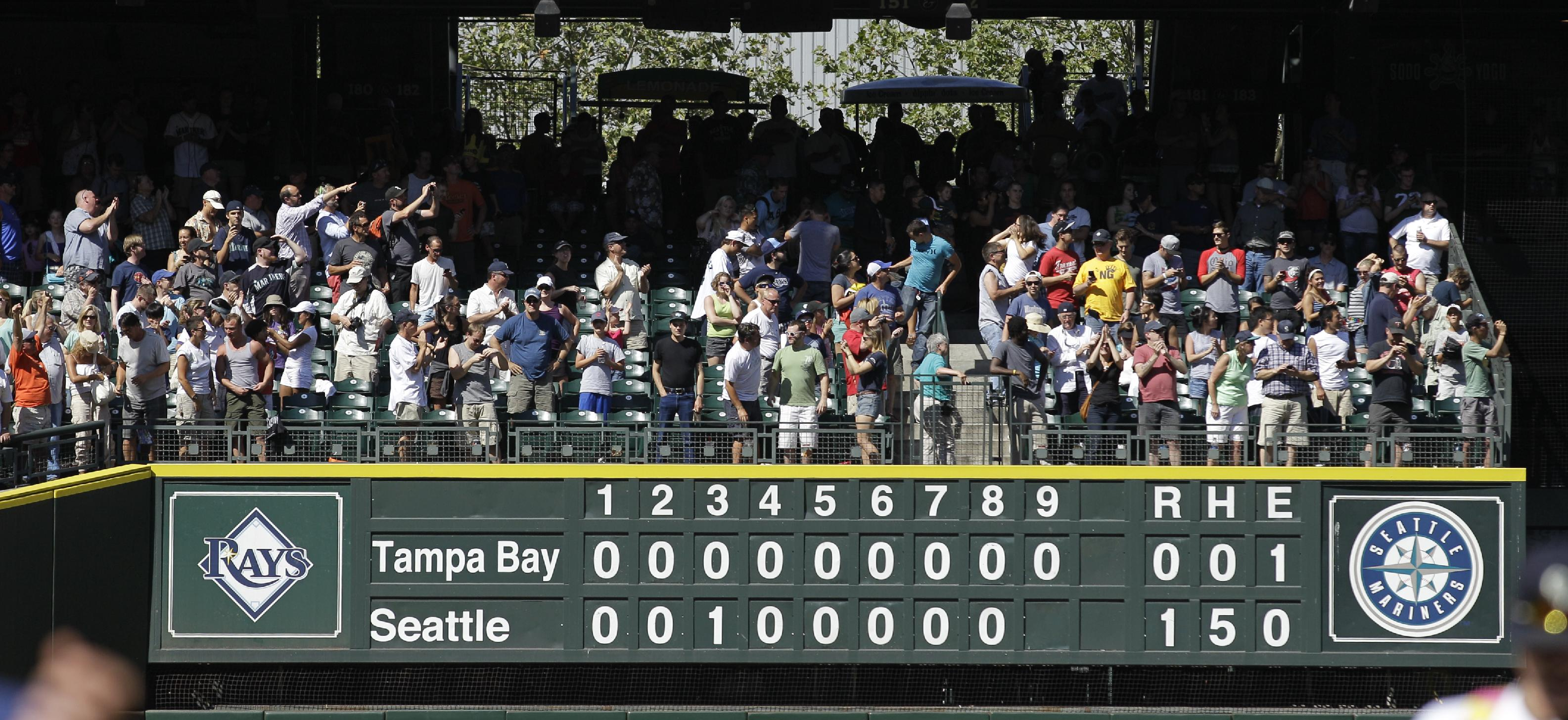 The Rays have been held to a scoreboard full of zeroes four times in the past three years. (AP)