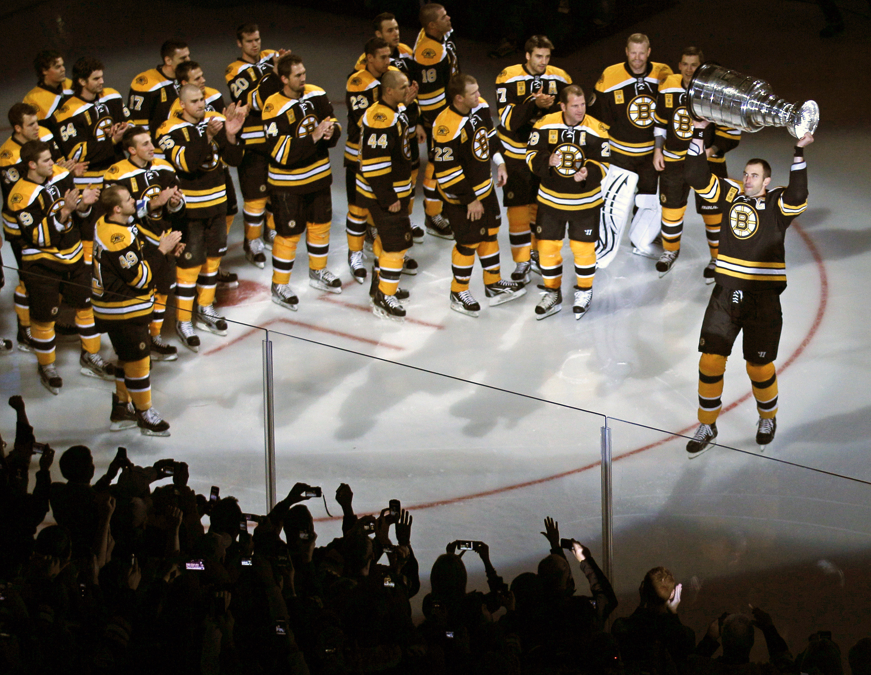 The Bruins still have many of the same players who led them to the Stanley Cup in 2011. (AP)