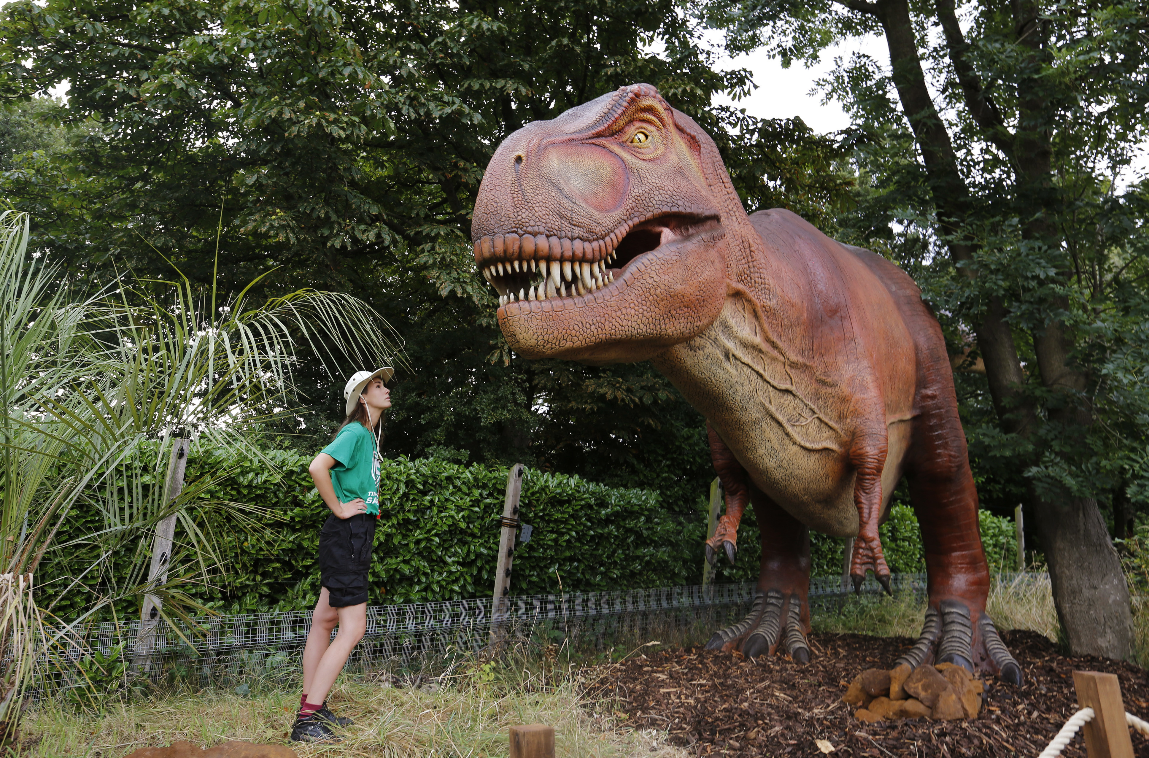 London Zoo welcomes a new kind of visitor: Robotic dinosaurs