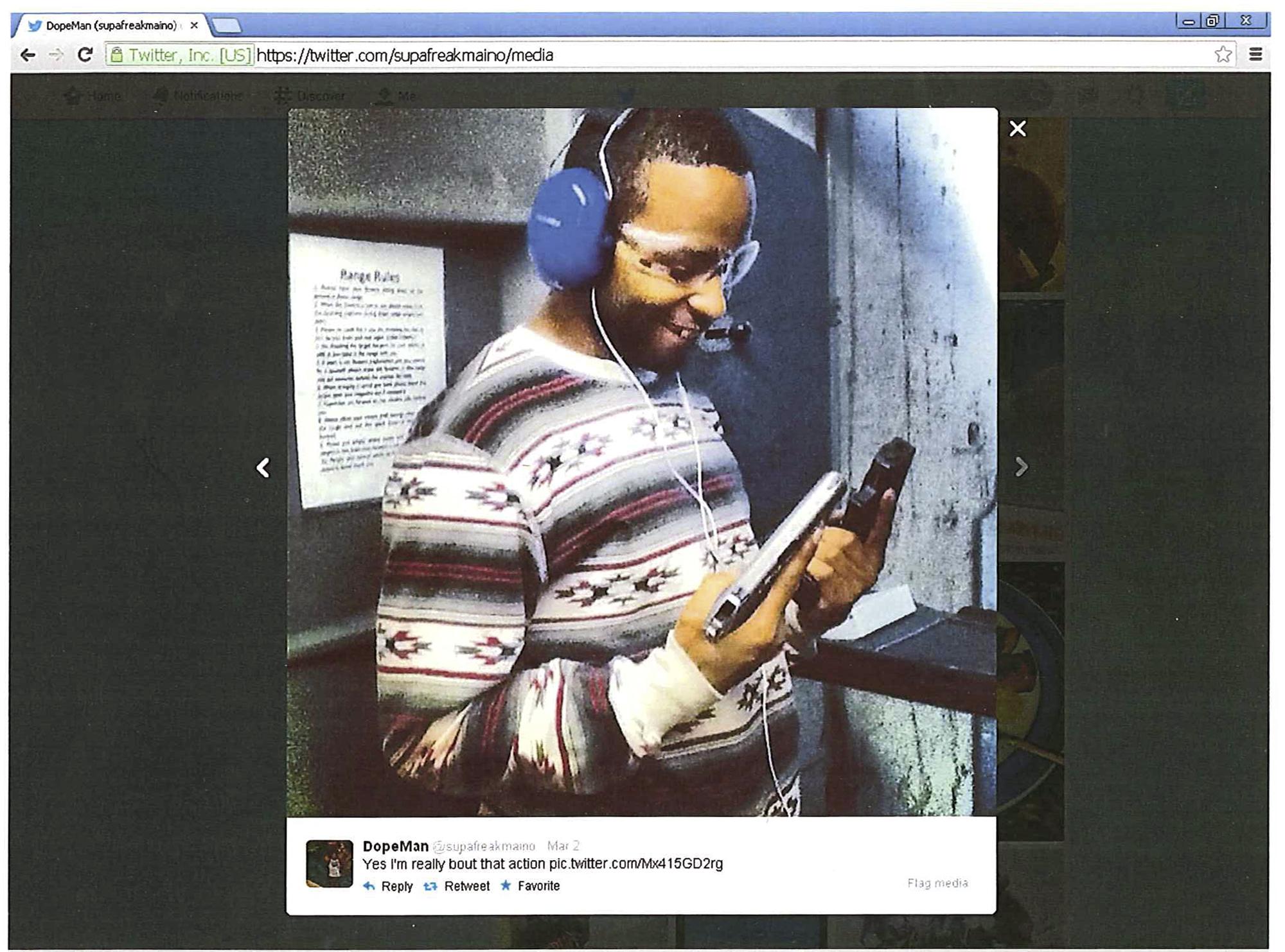 Felon seen on Twitter holding guns gets 18 months