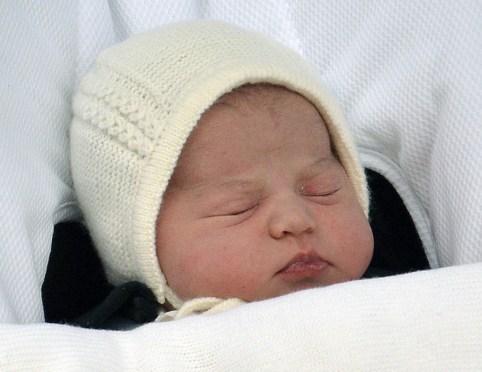 Queen Elizabeth II meets latest addition to family