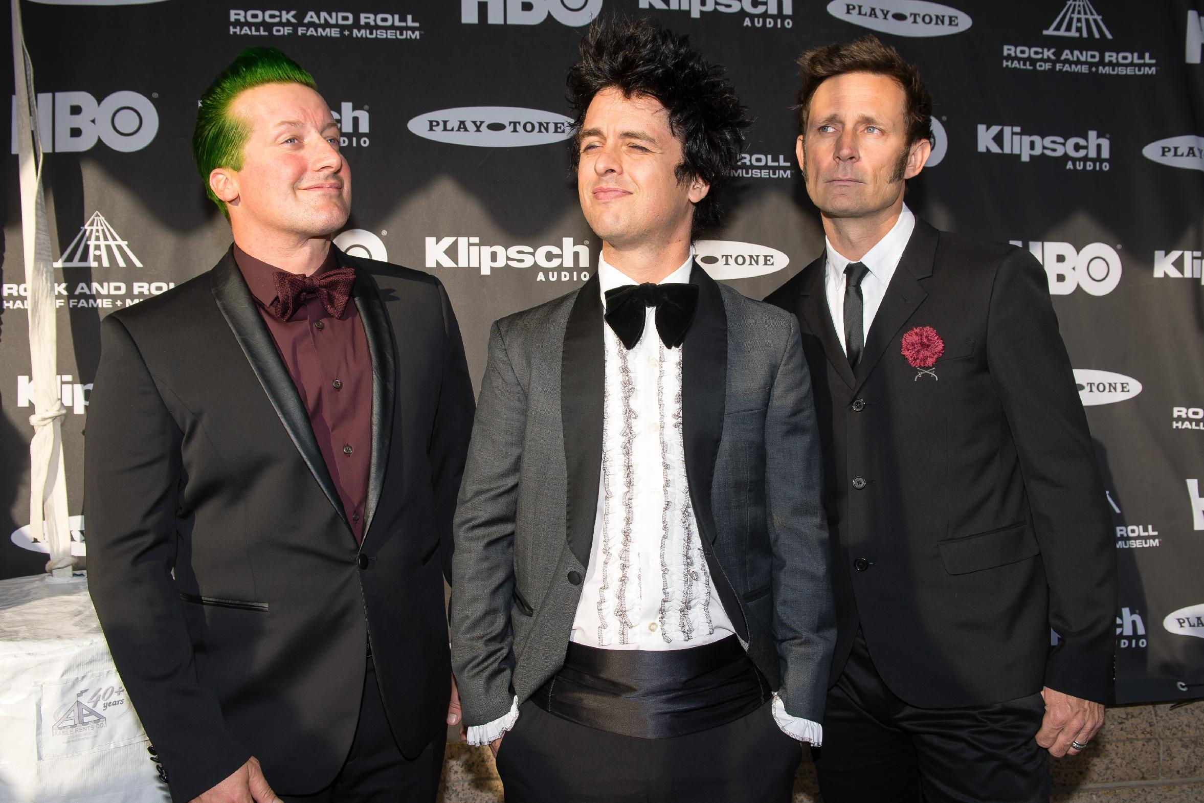 Green Day plows into Rock Hall along with Jett, Ringo