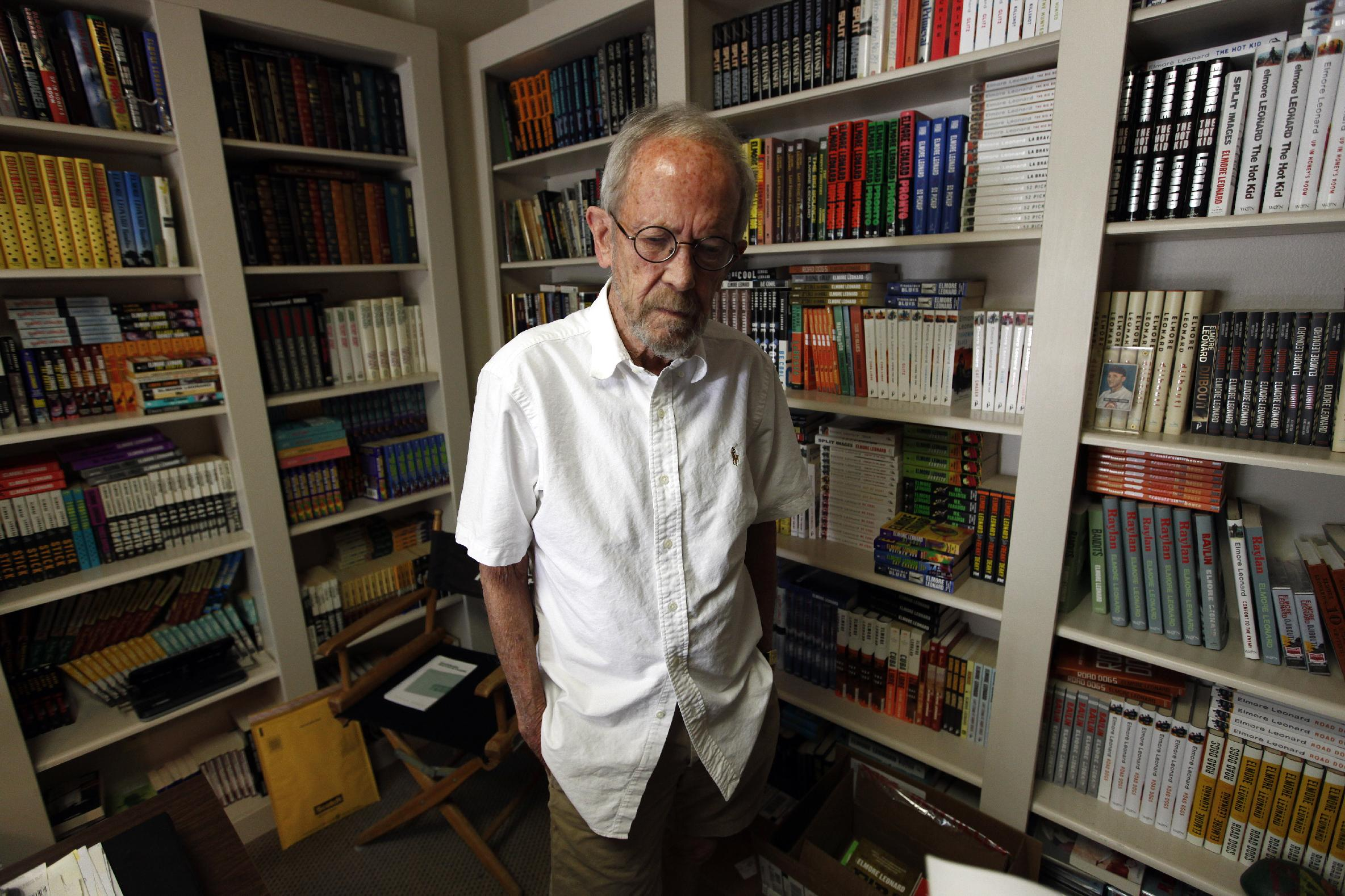 Elmore Leonard. Photograph by Paul Sancya, Associated Press.