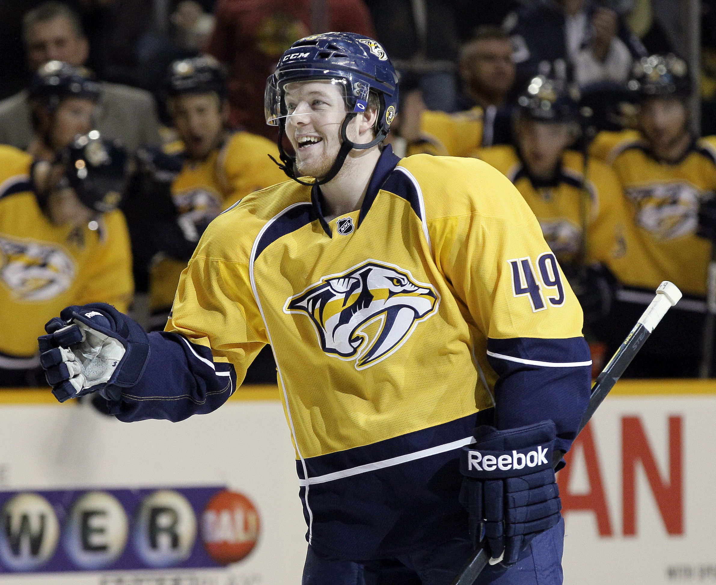 Ryan Ellis represents a big part of the future of Nashville's defense corps. (AP)