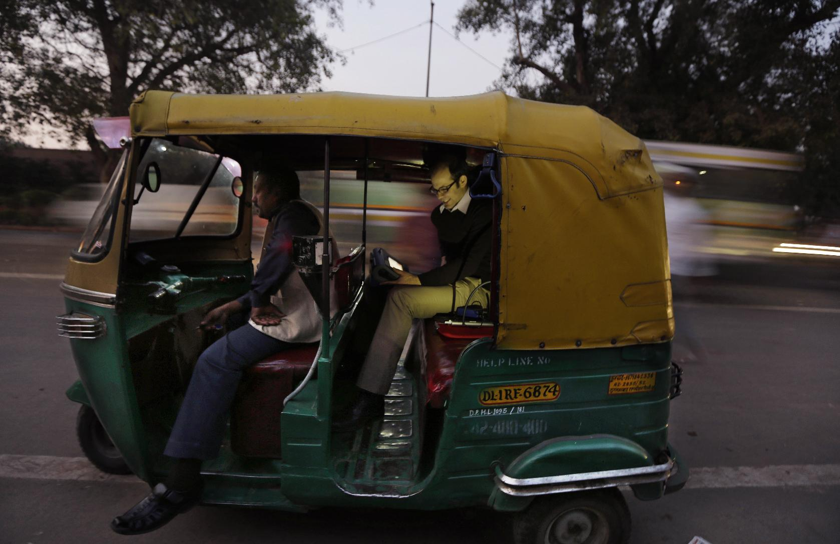 Rickshaw research reveals extreme Delhi pollution (AP Photo/Altaf Qadri)