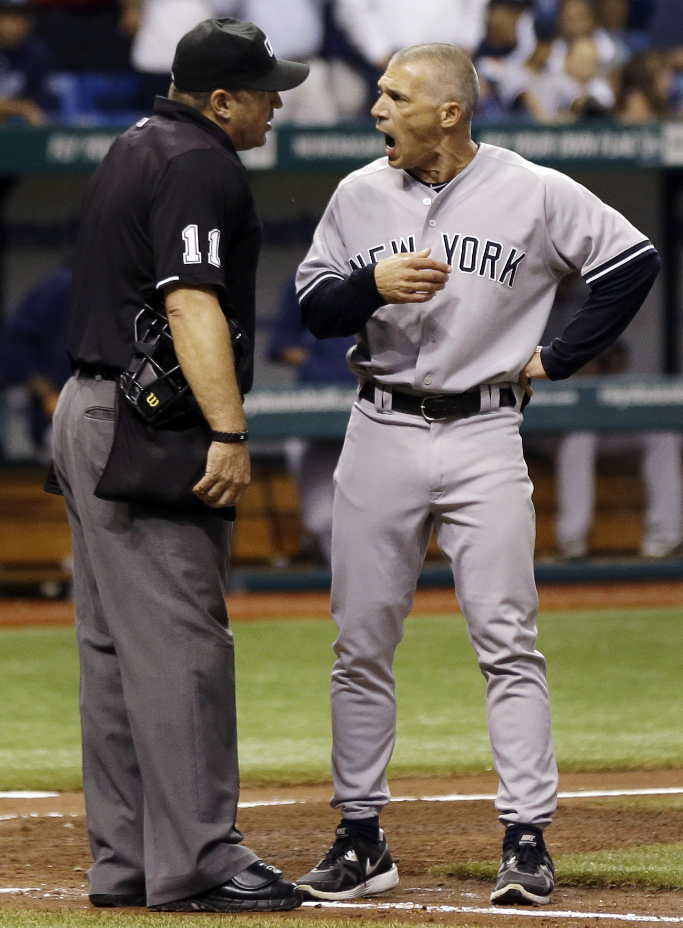 Joe Girardi isn't arguing with only umpires. A columnist was the target of his most recent blowup. (AP)