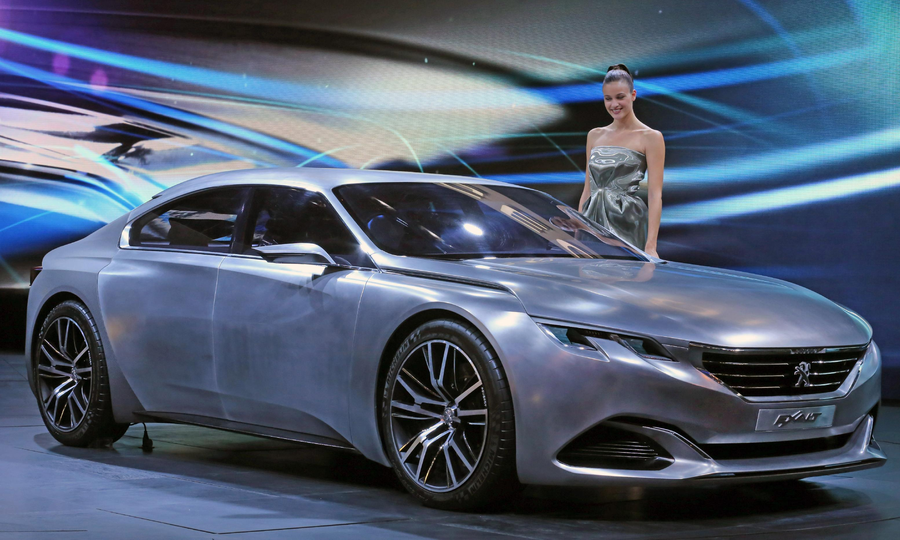 The Peugeot concept car Exalt - (AP Photo/Remy de la Mauviniere)