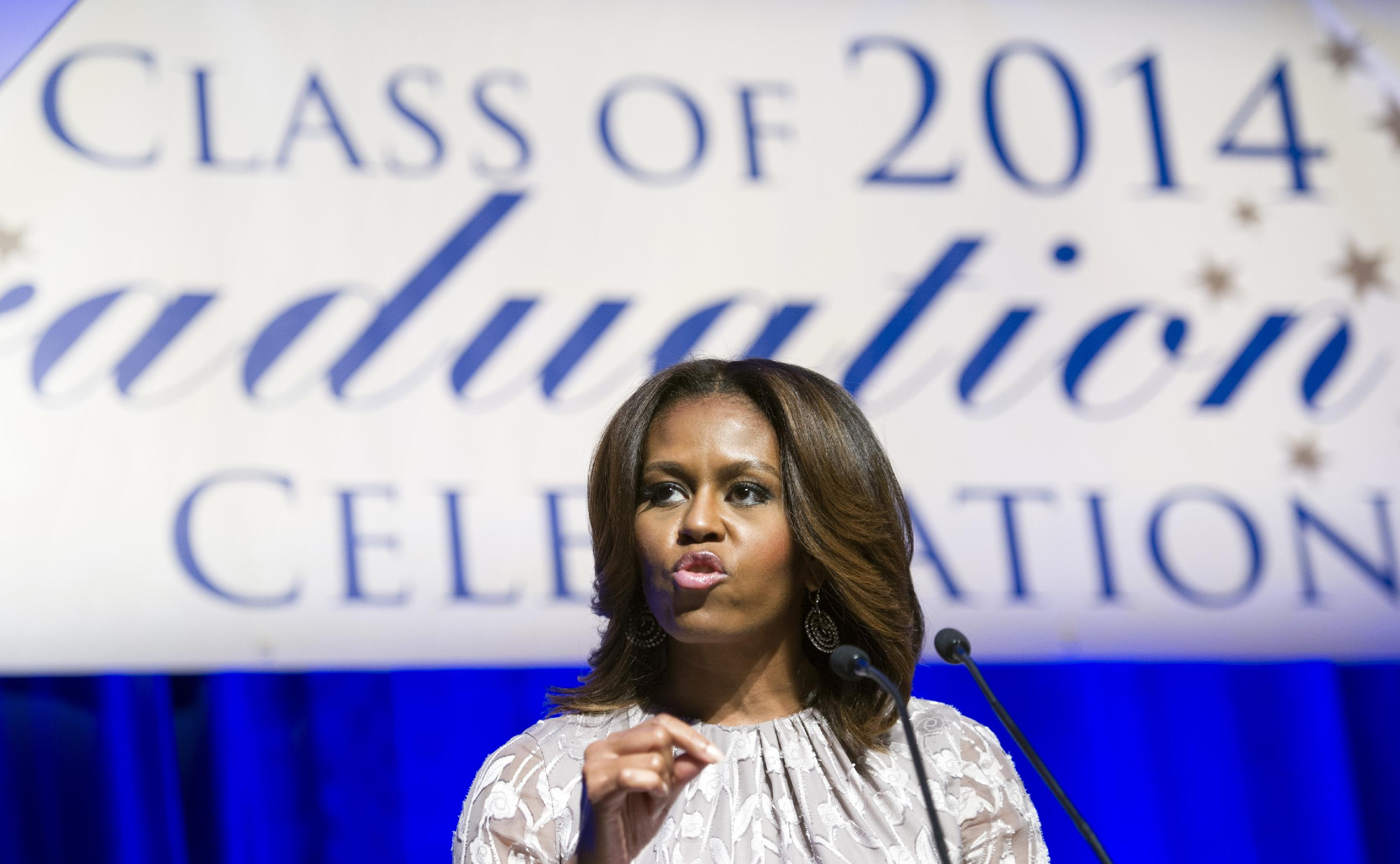 Don't shy away from struggle, first lady says