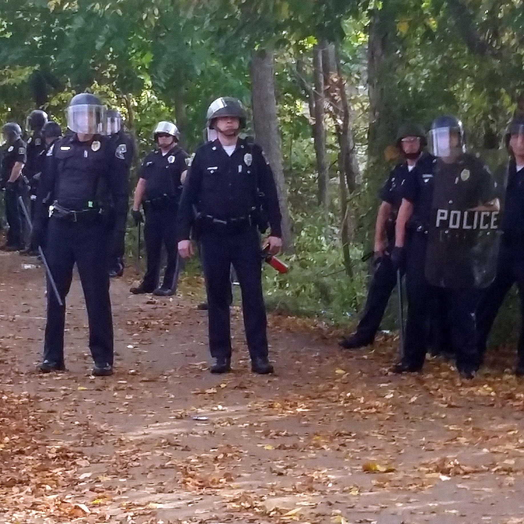 Major cleanup after 'riot,' dozens of arrests at pumpkin festival