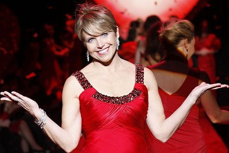Katie Couric on the runway at The Heart Truth's Red Dress Collection Fashion Show during New York Fashion Week. February 13, 2009 at Bryant Park.