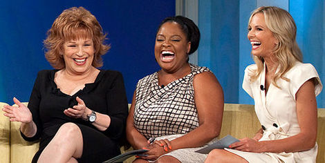 "Joy Behar, Sherri Shepherd and Elisabeth Hasselbeck of ""The View"""