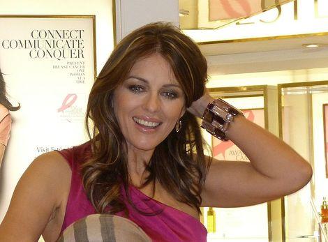 Liz Hurley at Harrods, London