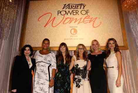 Se Kroll, Queen Latifah, Jessica Biel, Felicity Huffman, Katherine Heigl and Maria Menounos at the Variety Power of Women luncheon on October 5, 2012.
