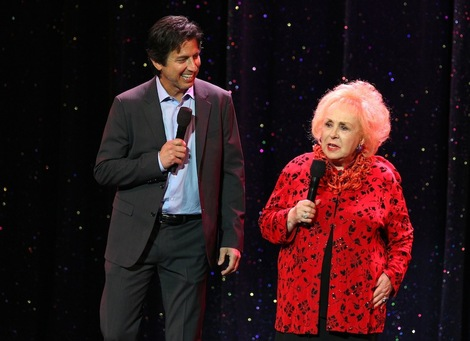 Ray Romano and Doris Roberts trade barbs at the 6th Annual Myeloma Foundation Comedy Celebration held in Los Angeles on October 27, 2012.