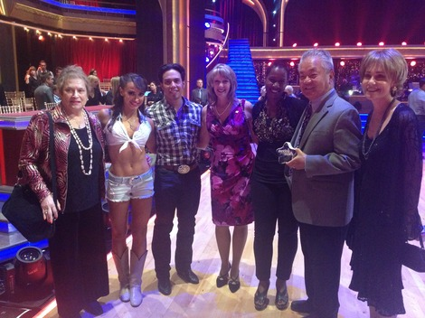 Karina Smirnoff and Apolo Ohno with friends from City of Hope.