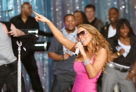 Mariah Carey encouraged her fans to get out and vote.