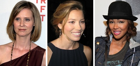 Cynthia Nixon married in green, while Jessica Biel chose pink and Meagan Good opted for purple.
