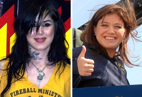 Kat Von D and Kelly Clarkson in 2007
