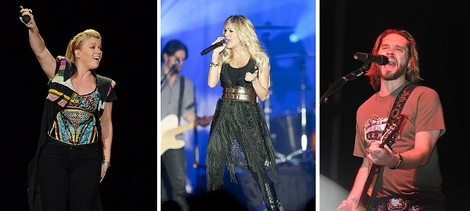 Kelly Clarkson, Carrie Underwood, Bo Bice