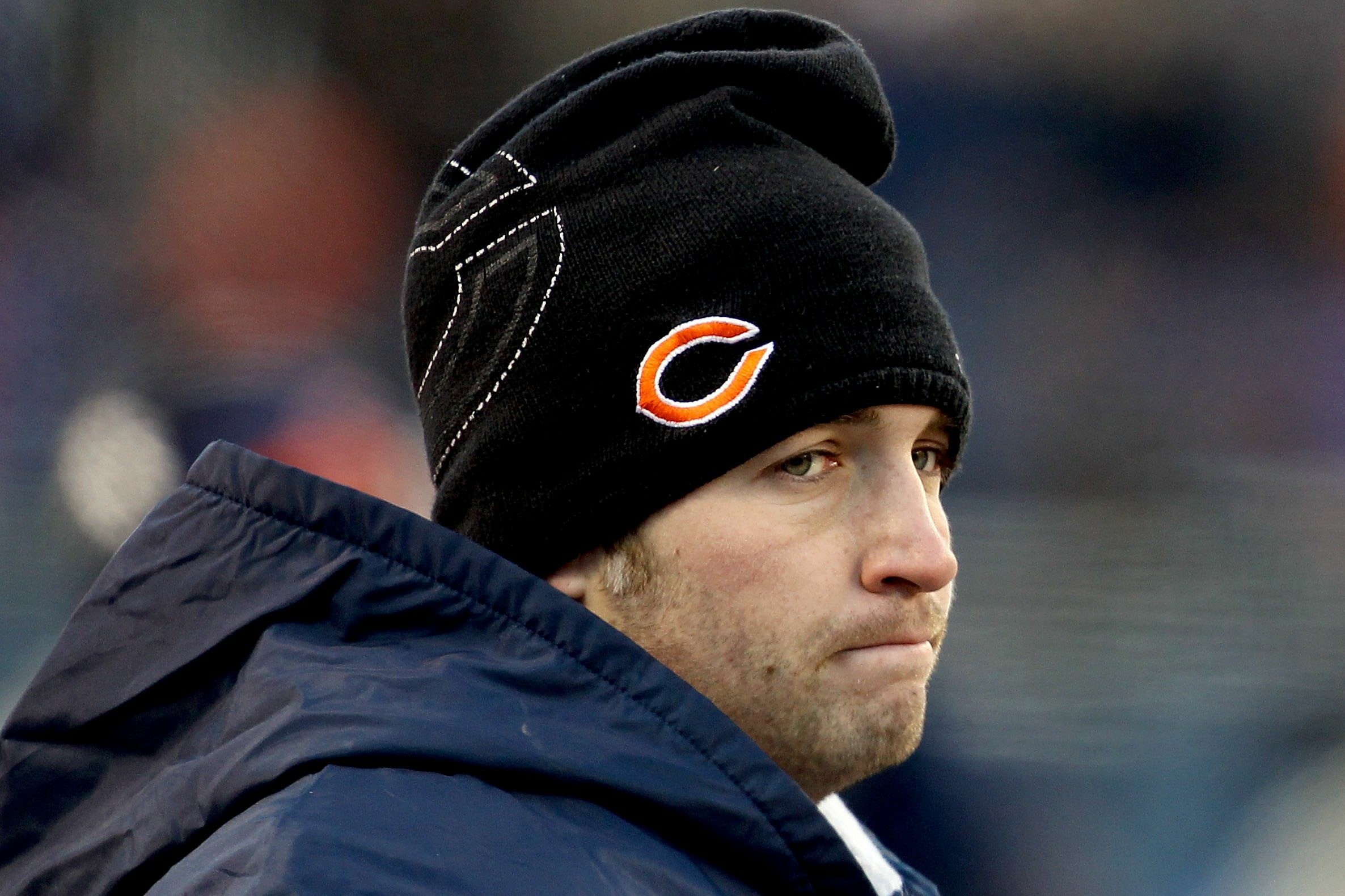 An injured Jay Cutler was widely criticized during and after the NFC championship game in 2011. (Getty Images)
