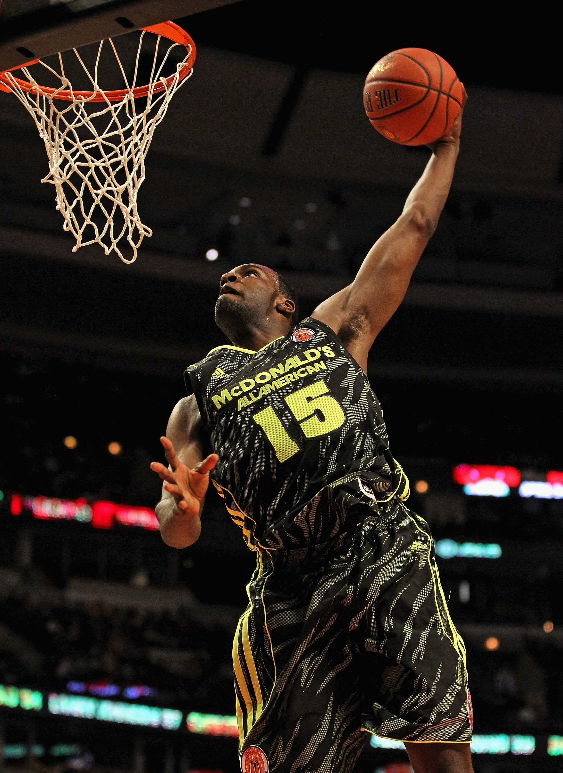 Shabazz Muhammad goes up for a dunk during the 2012 McDonald's All American Game. (Getty Images)