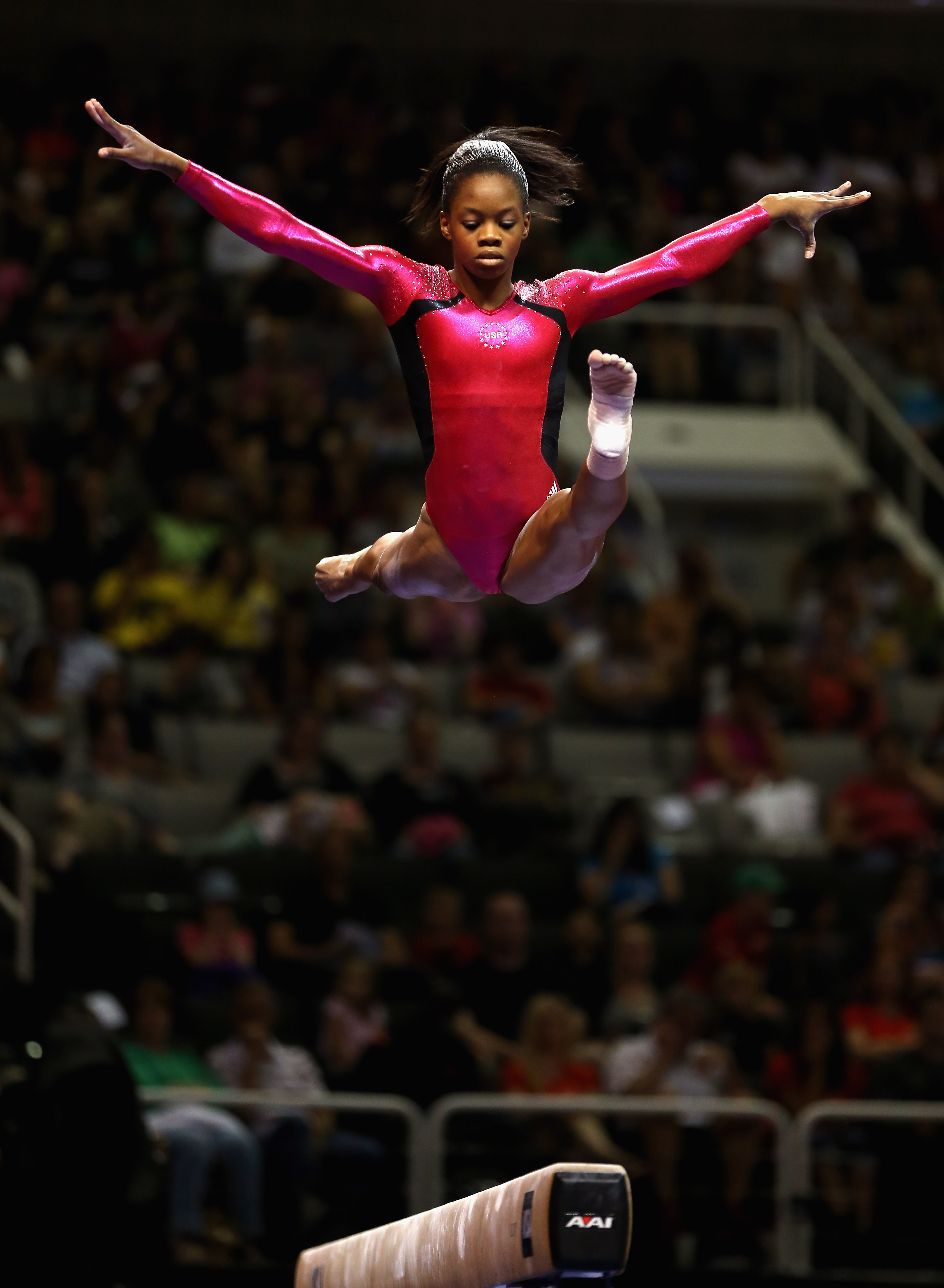 Gabby Douglas was a fan favorite in San Jose. (Getty Images)