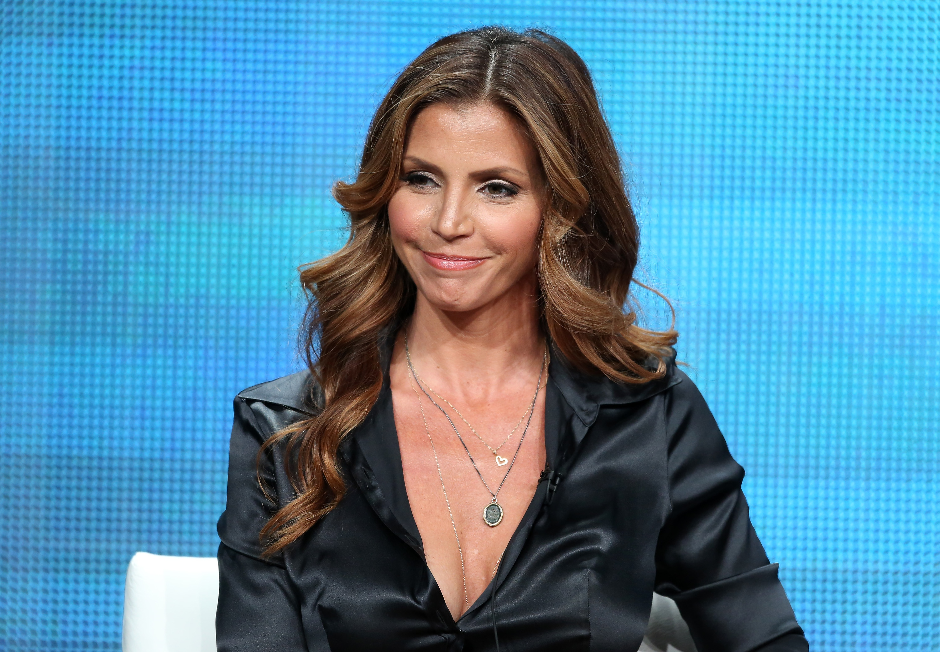 Host & Survivor Charisma Carpenter at the 'Surviving Evil' panel during the TCA Press Tour. (Frederick M. Brown/Getty Images)