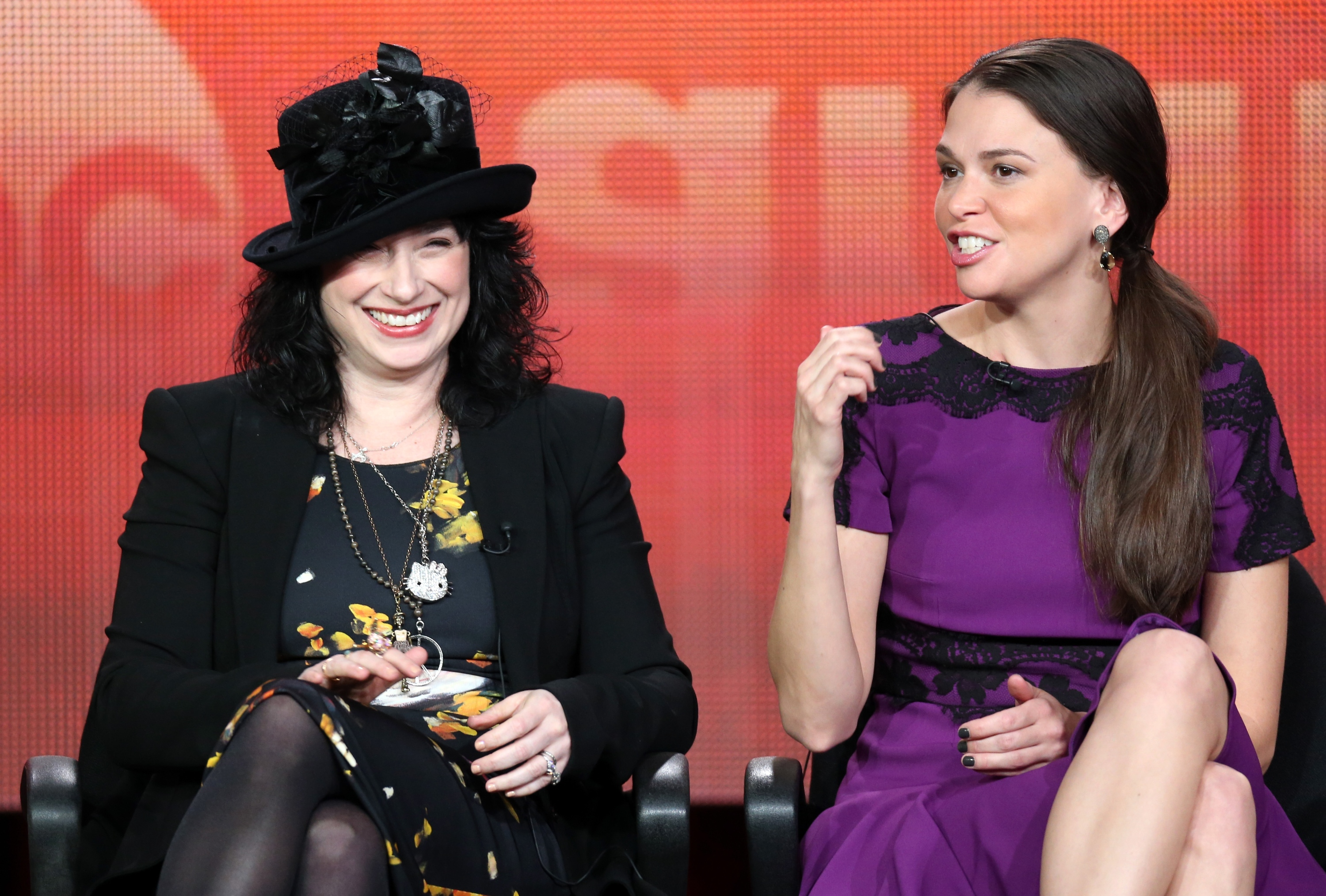 'Bunheads' Executive Producer Amy Sherman-Palladino & actress Sutton Foster (Frederick M. Brown/Getty Images)
