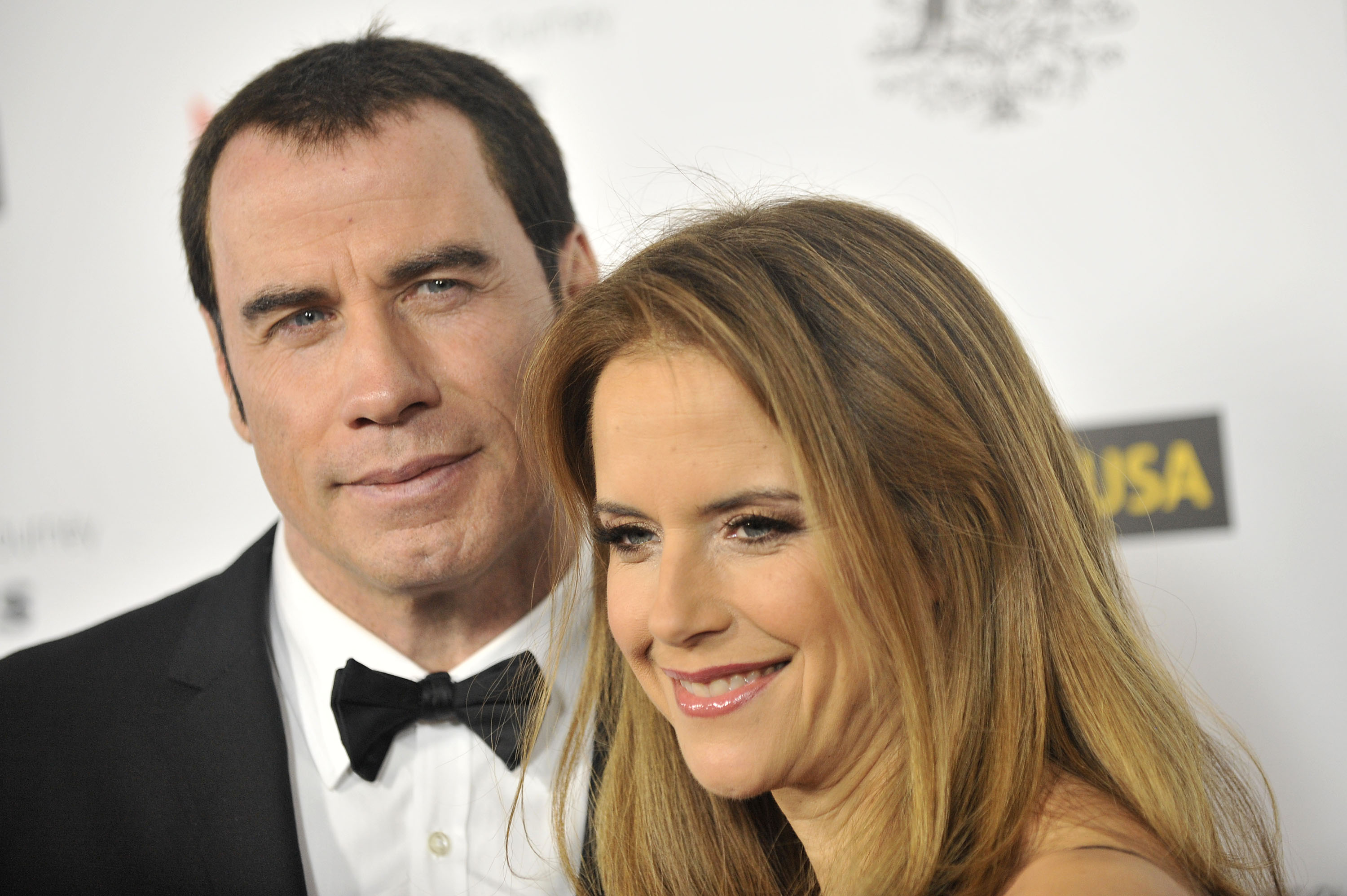 HOLLYWOOD, CA - JANUARY 14: John Travolta and Kelly Preston arrives for the 9th Annual G'Day USA Los Angeles Black Tie Gala on January 14, 2012 in Hollywood, California. (Photo by Toby Canham/Getty Images)