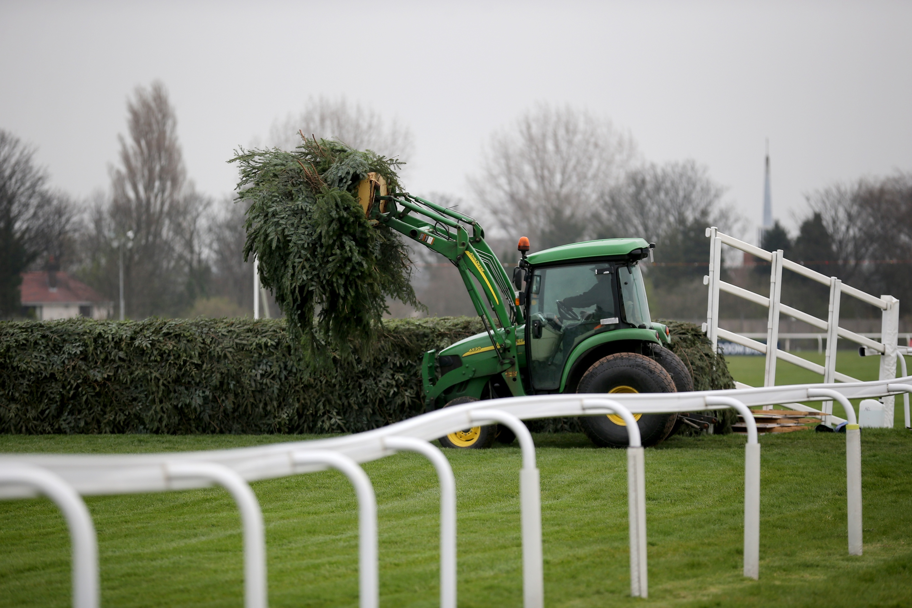 Aintree Prepares For The Grand National