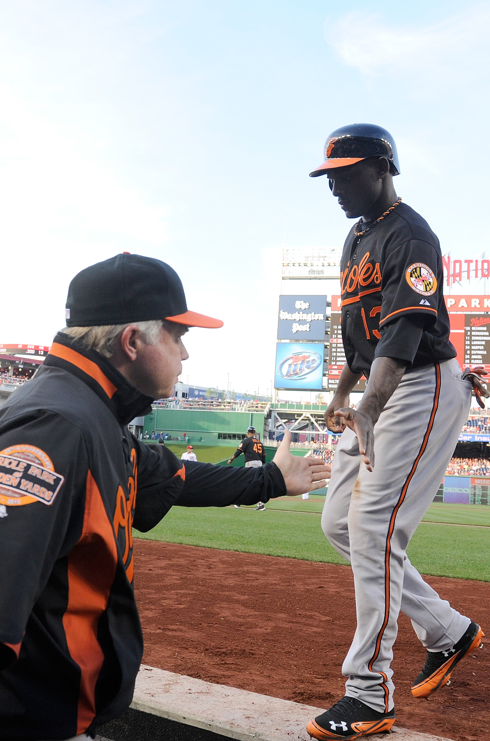 Buck Showalter, the player's manager, likes to pick the brains of his young Orioles on strategies. (Getty)
