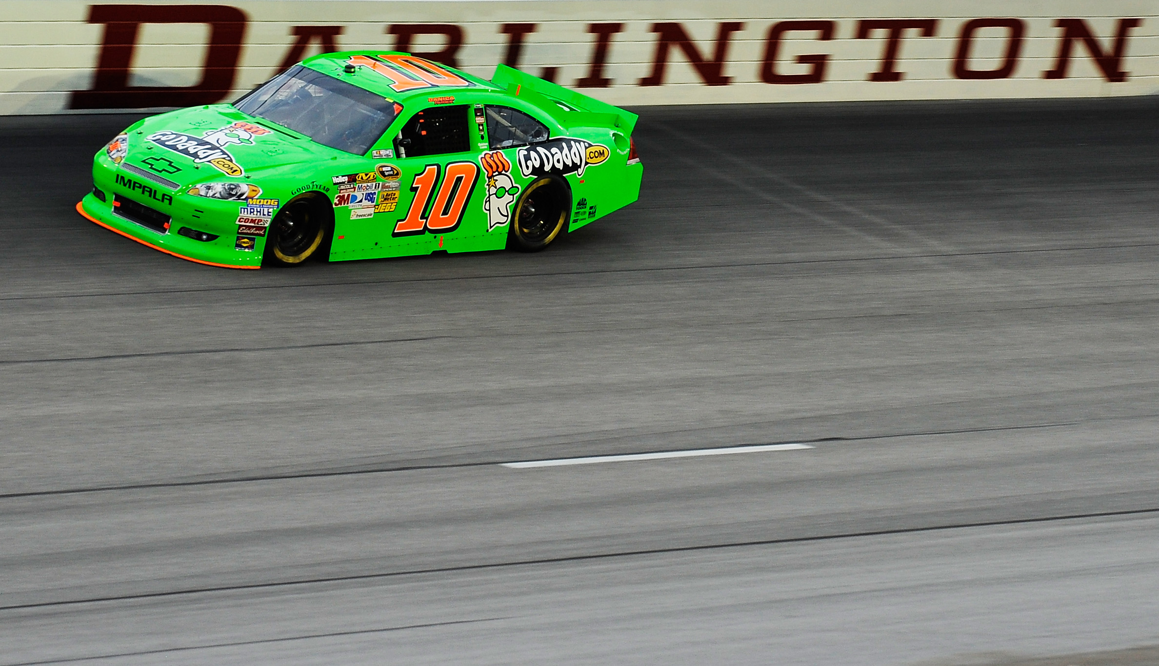 Danica Patrick finished 31st in her first Cup race at Darlington Spedway. (Getty Images)
