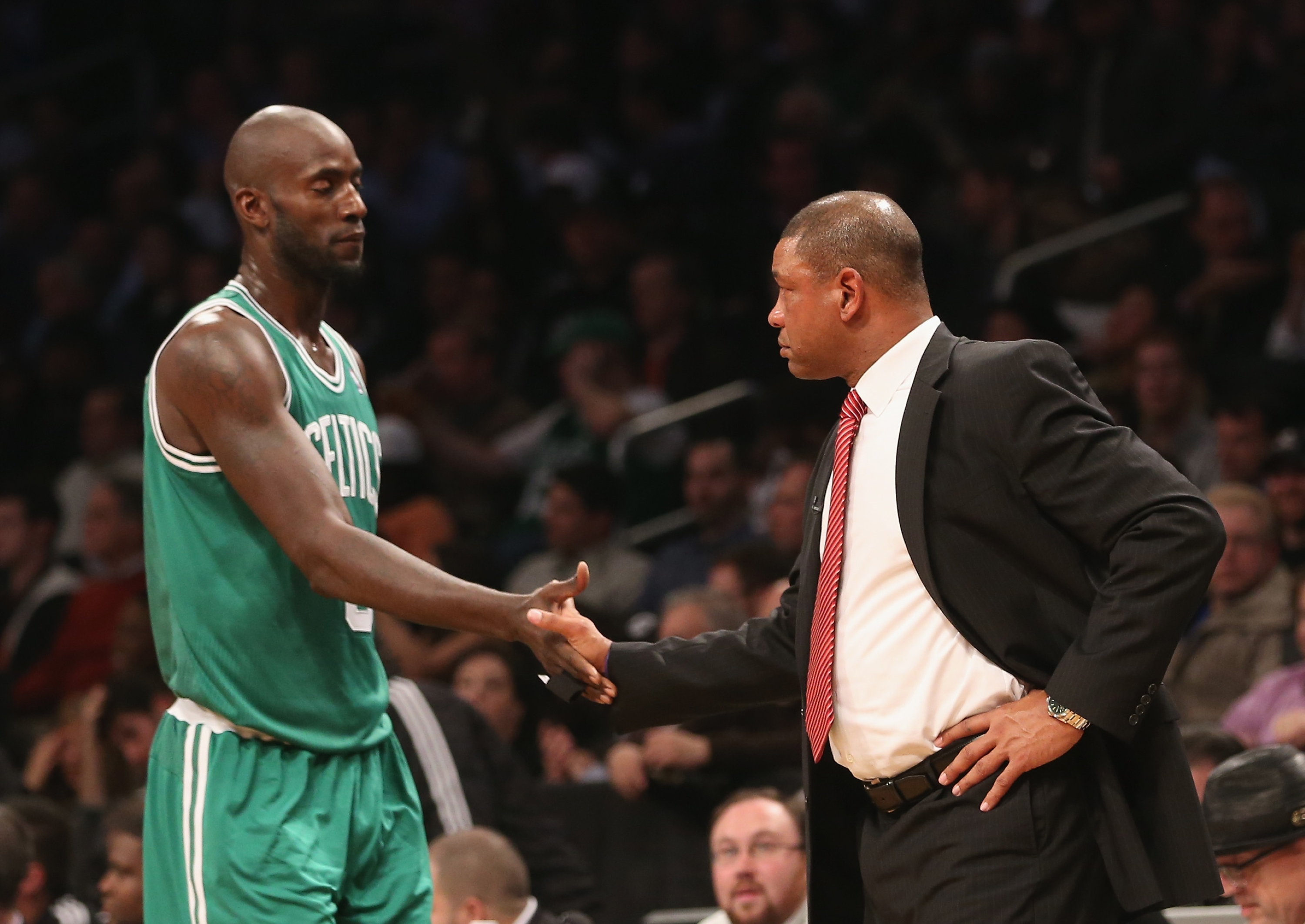 Boston has had talks about sending Kevin Garnett and Doc Rivers to join the Clippers. (Getty Images)