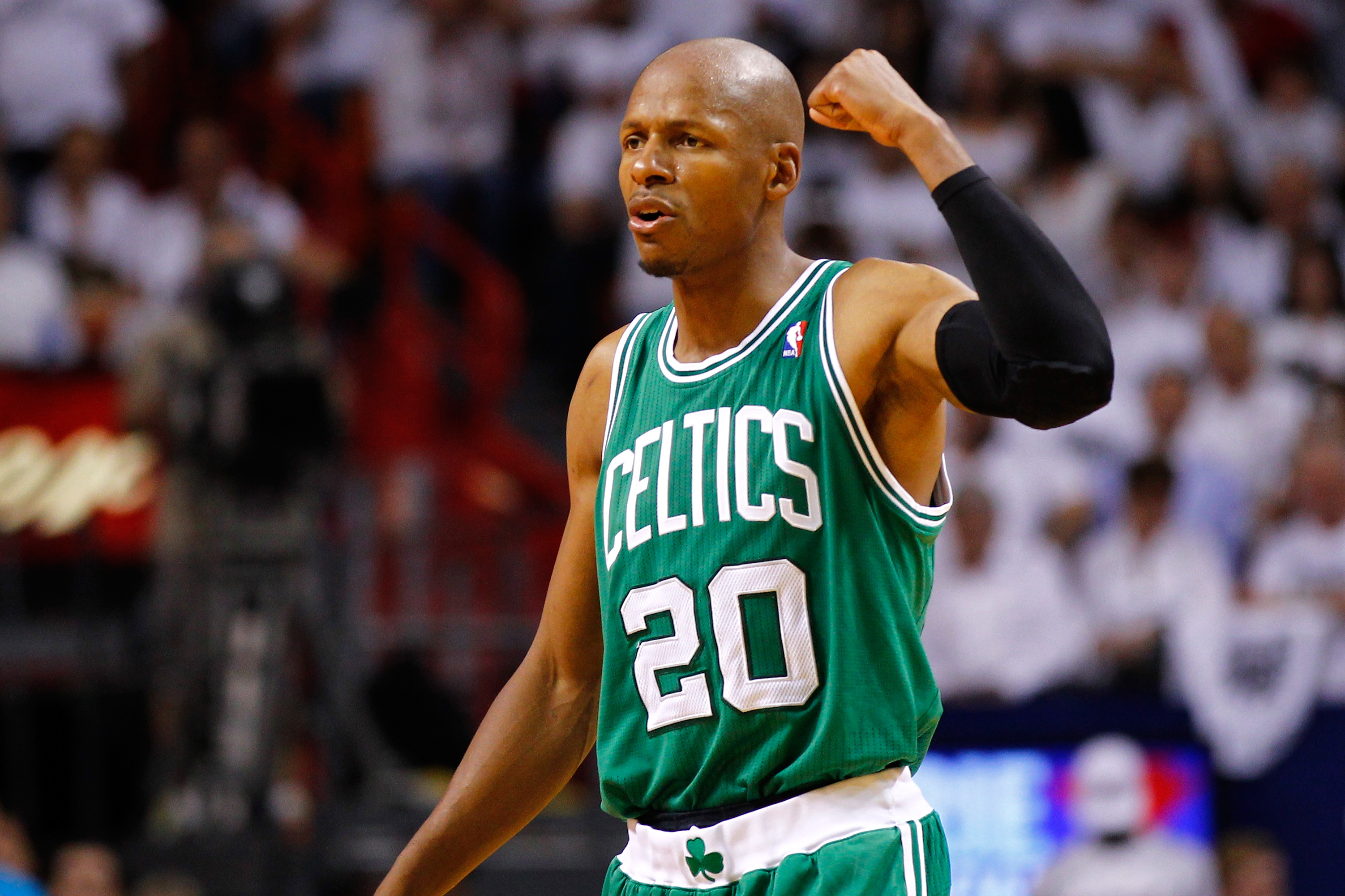 Ray Allen will become a free agent after spending the past five seasons with the Celtics. (Getty Images)