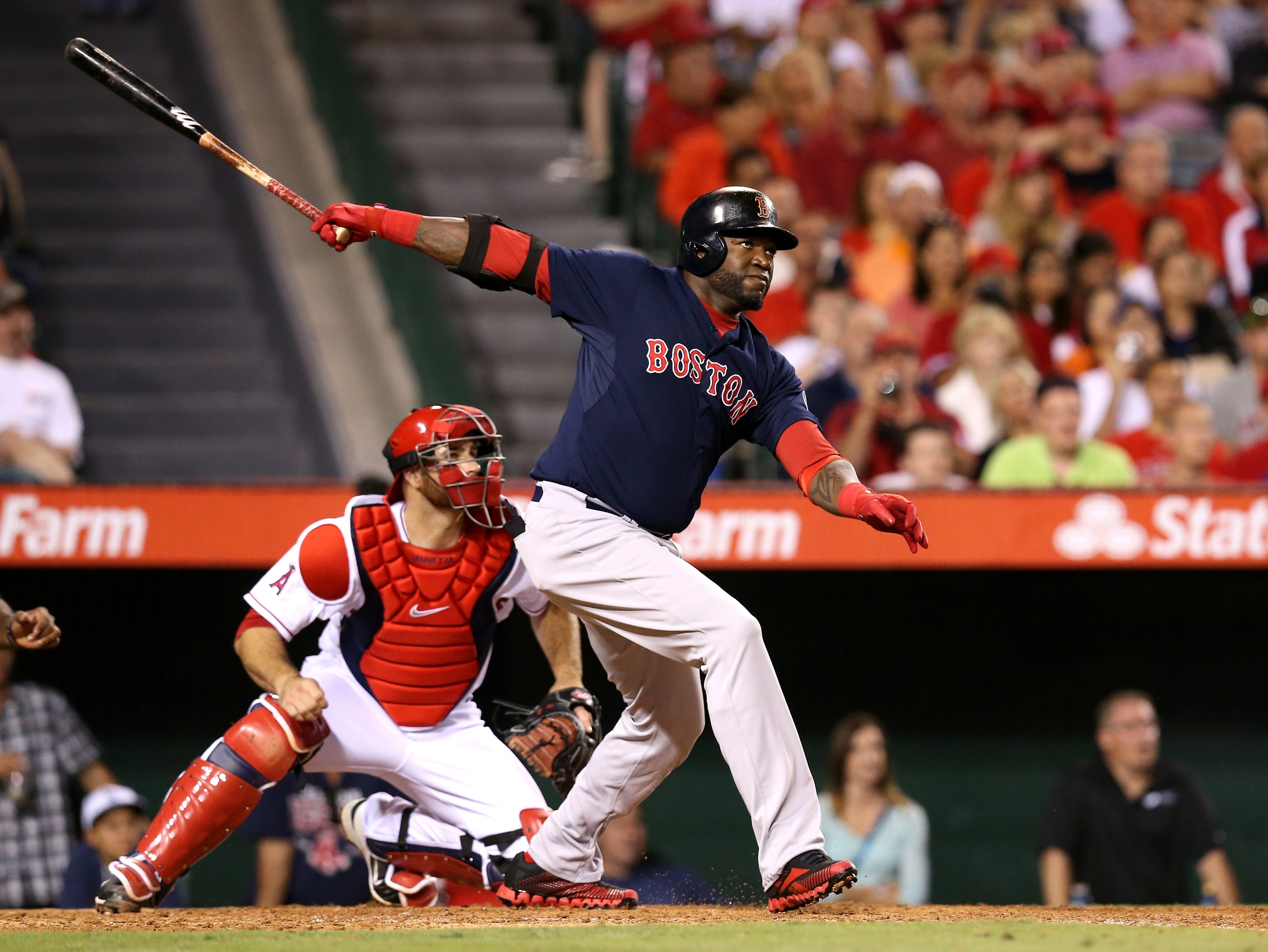All-Star David Ortiz leads the Red Sox in HRs and RBIs. (Getty Images)