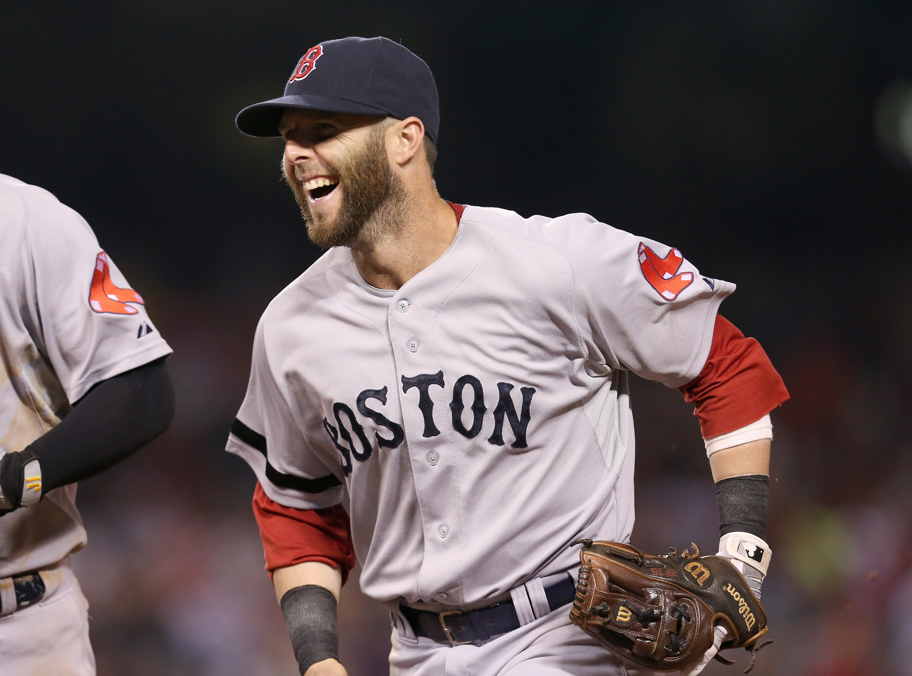 Dustin Pedroia could be getting a hefty raise from the Red Sox. (Getty Images)