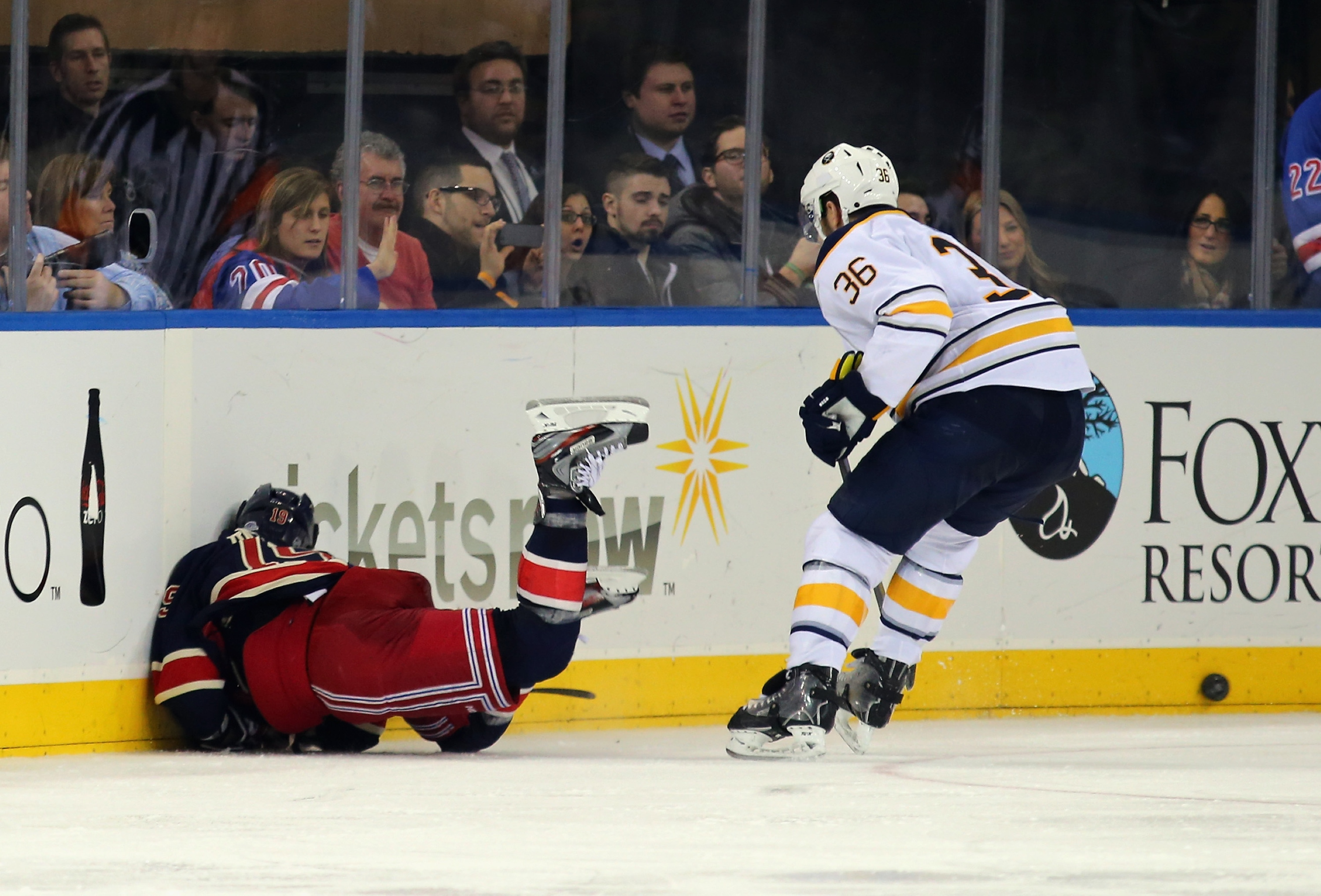 Patrick Kaleta's hit on Brad Richards. (Getty)